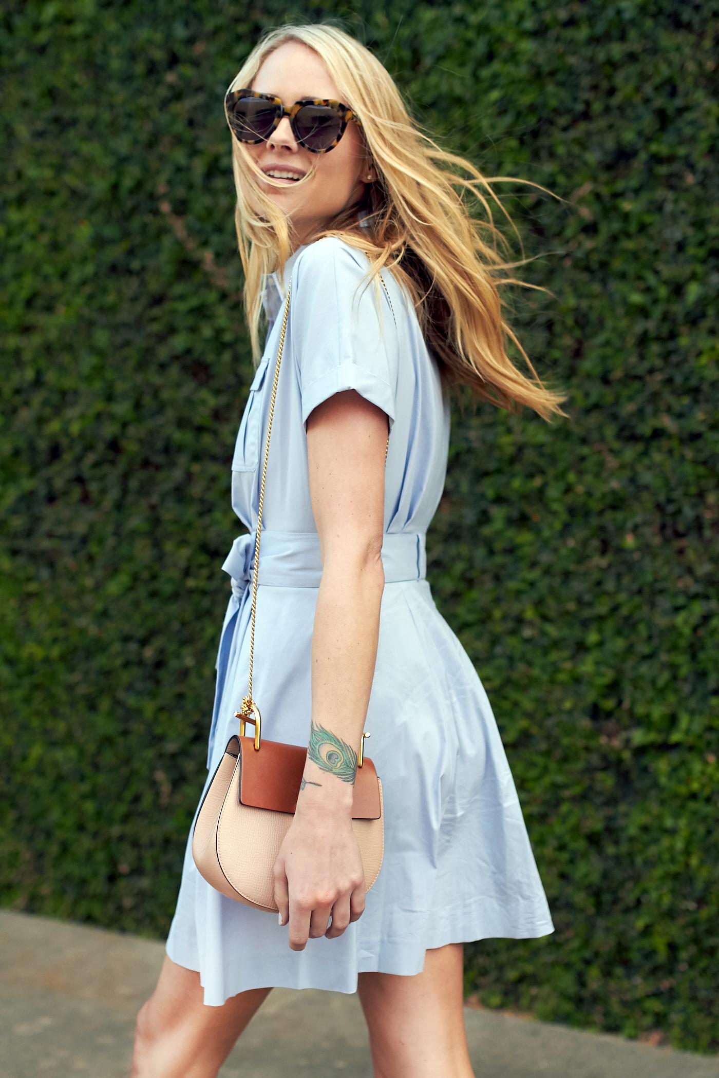 fashion-jackson-cynthia-steffe-blue-shirtdress-chloe-drew-handbag-karen-walker-sunglasses