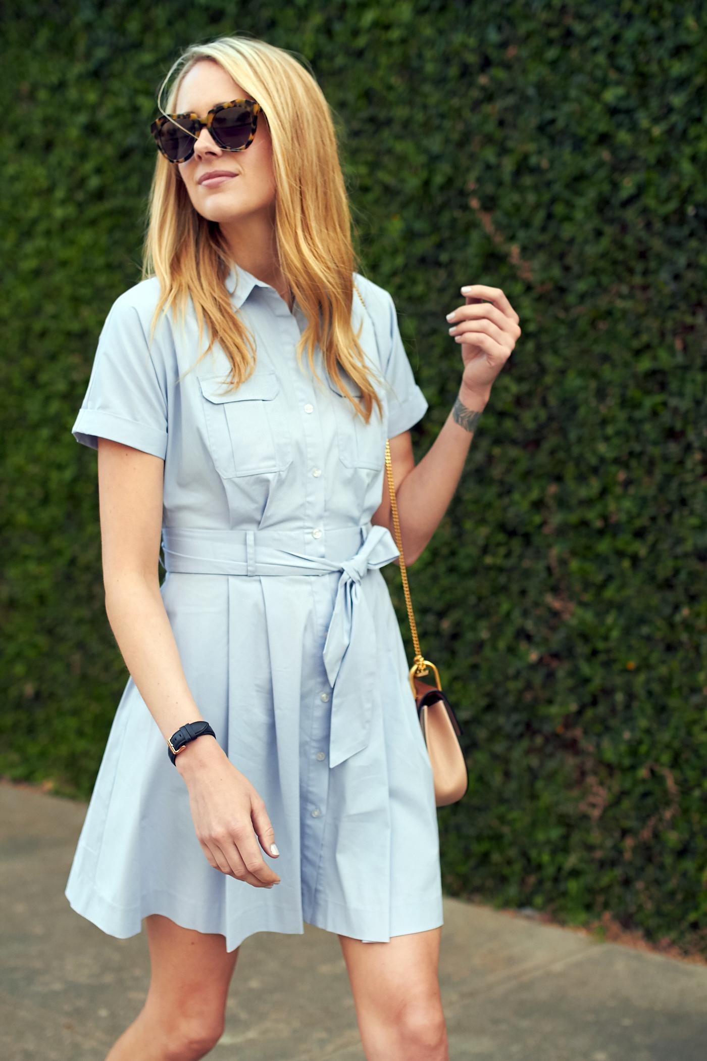 fashion-jackson-cynthia-steffe-nordstrom-blue-shirtdress-karen-walker-sunglasses
