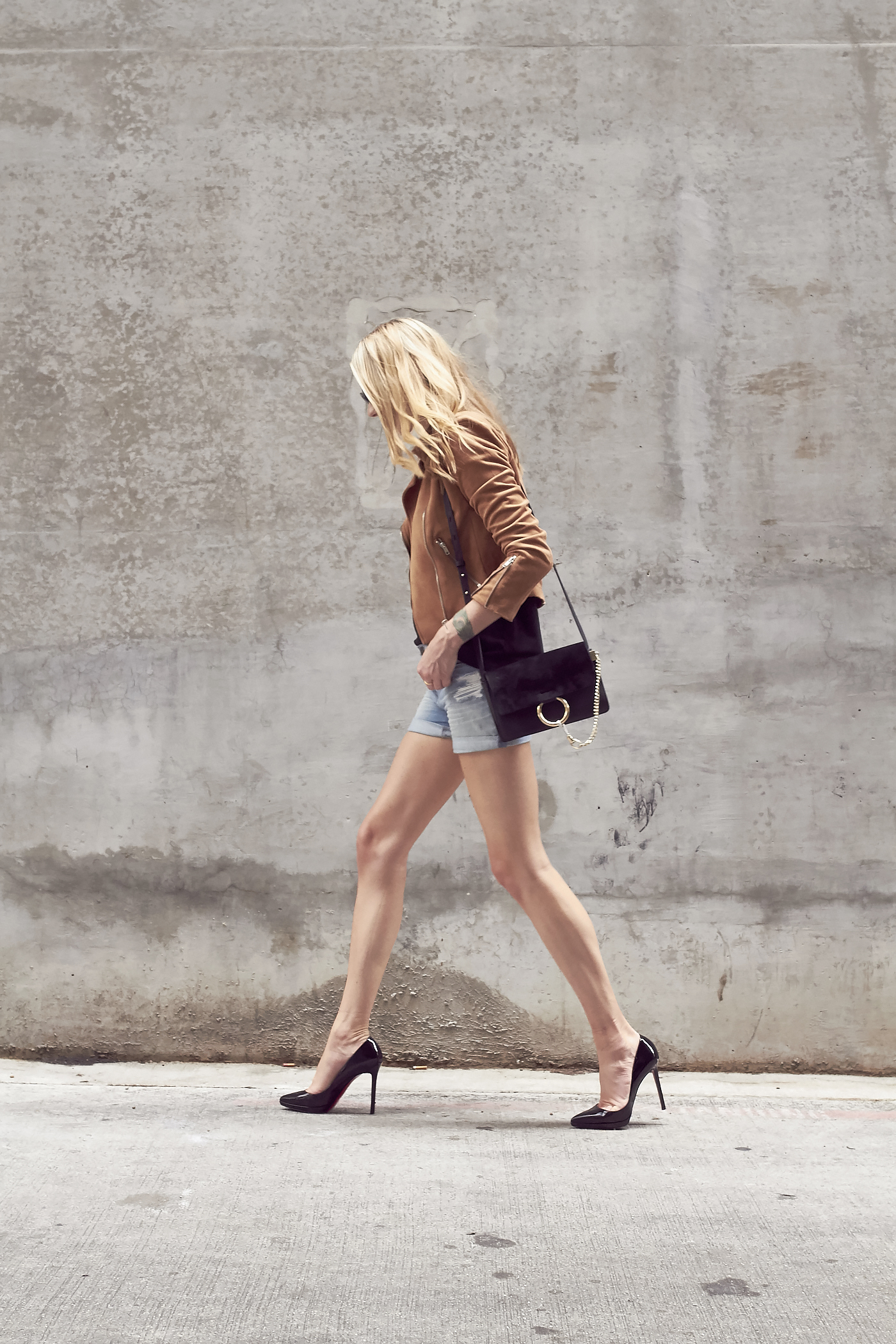Denim Shorts Amp Black Pumps Fashion Jackson