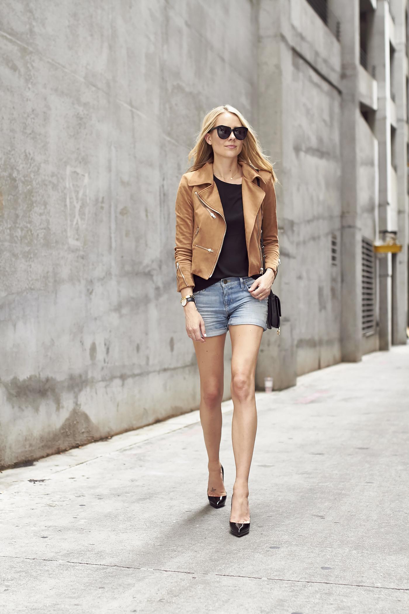 Denim Shorts Amp Black Pumps Fashion Jackson