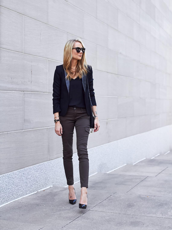 fashion-jackson-black-blazer-cargo-pocket-skinny-pants-louboutin-black-pumps