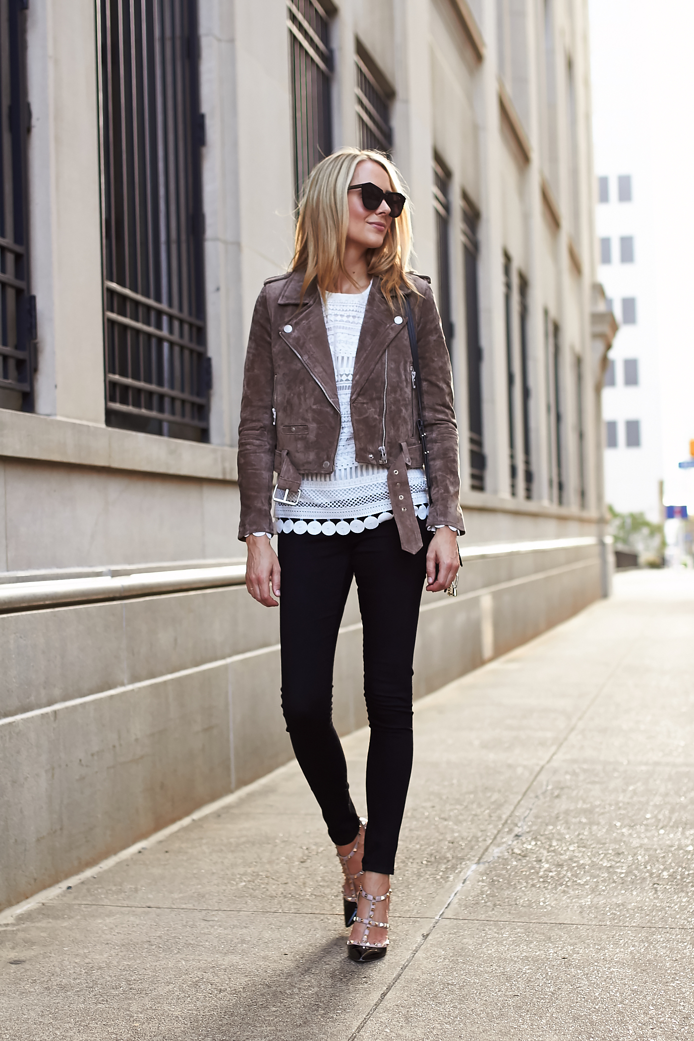 c1e7a504ff8 Fall Outfit BLANKNYC Morning Suede Moto Jacket Black
