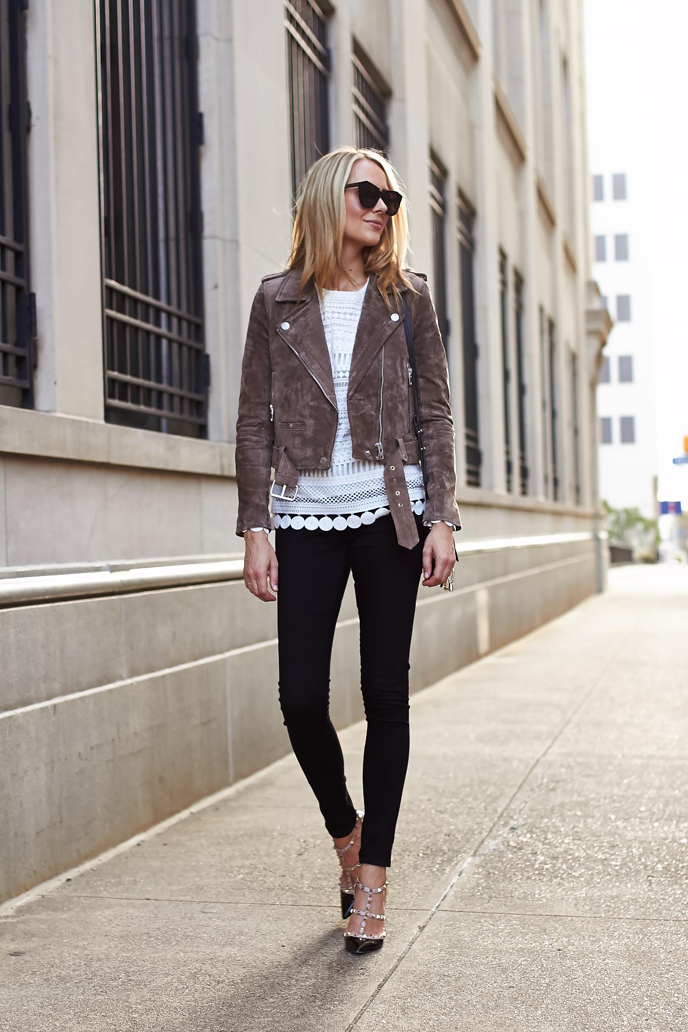 Brown Suede Moto Jacket Fashion Jackson