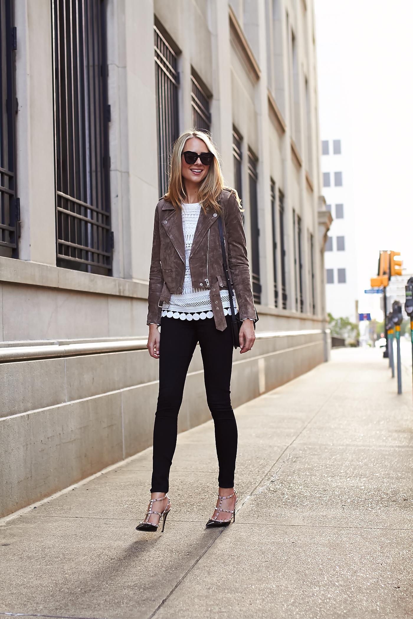 Brown Suede Moto Jacket  Fashion Jackson-4071