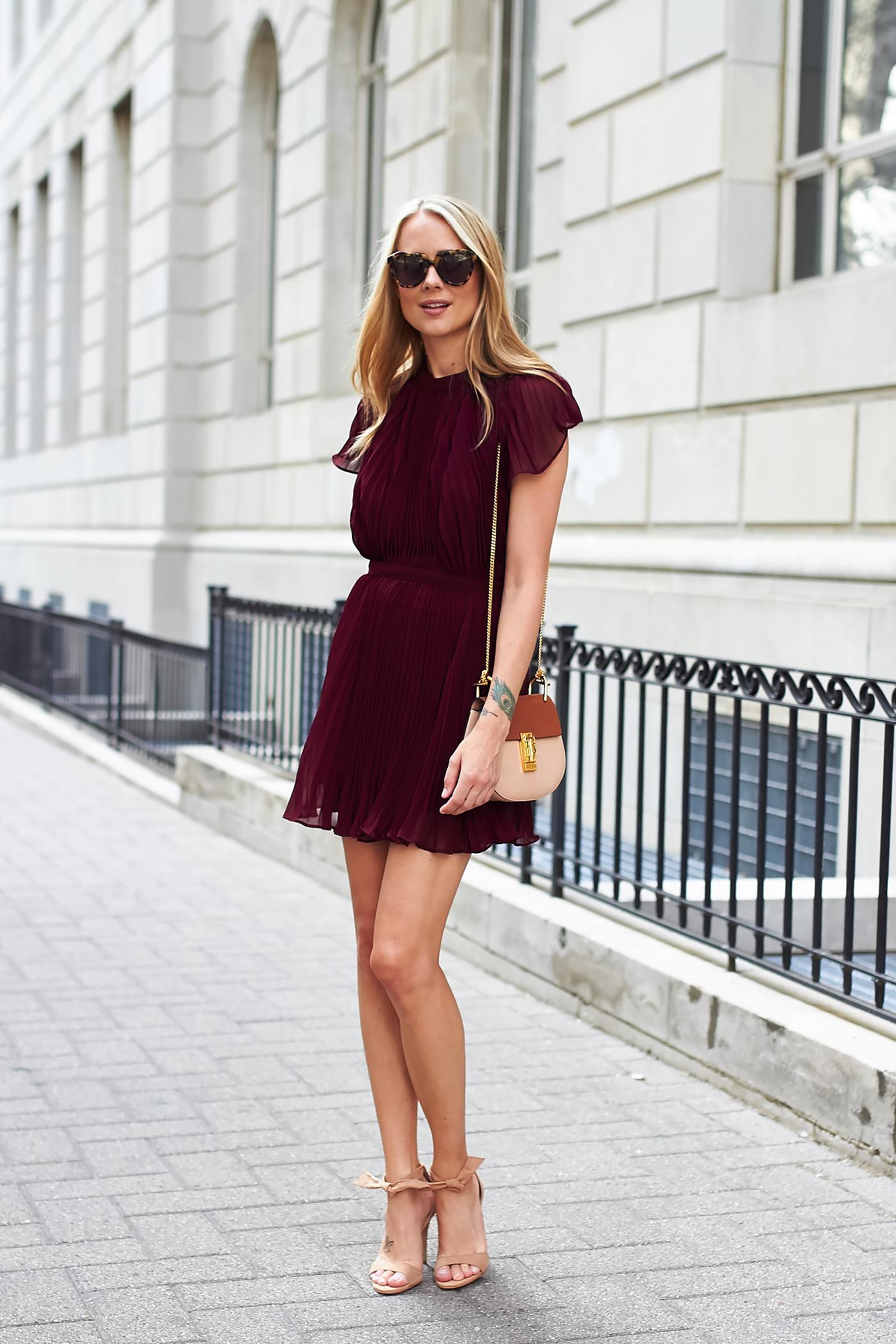 Pleated Mini Dress Fashion Jackson