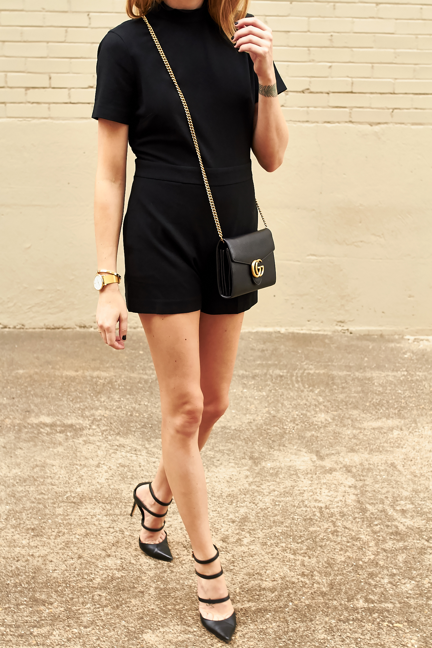 fashion-jackson-club-monaco-black-philena-romper-gucci-marmont-handbag-black-strappy-pumps