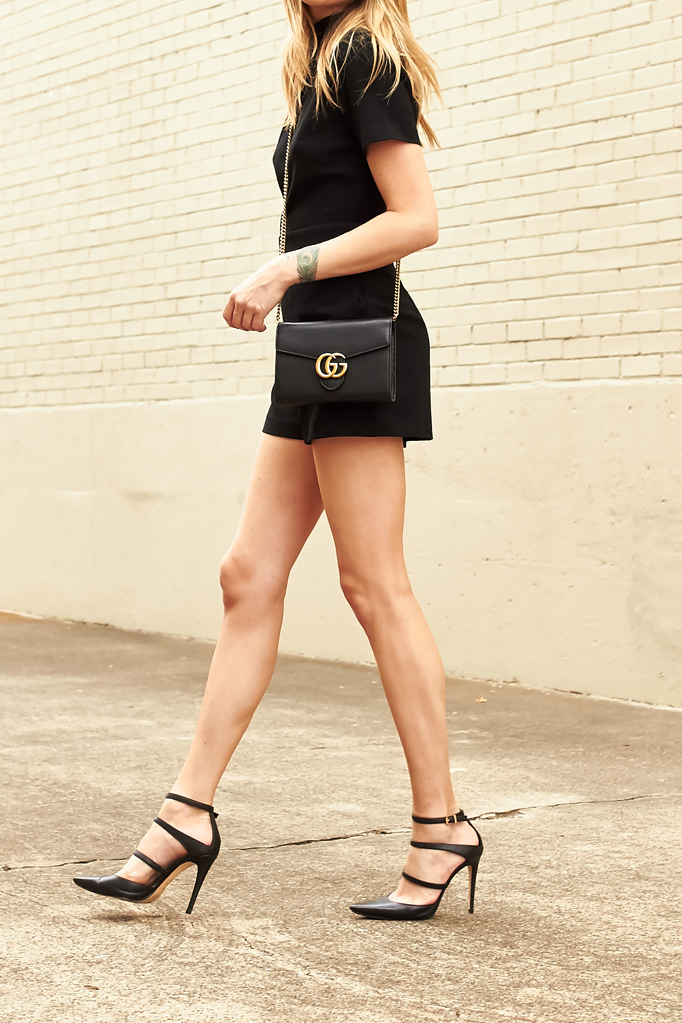 fashion-jackson-gucci-black-marmont-handbag-black-romper-black-strappy-heels