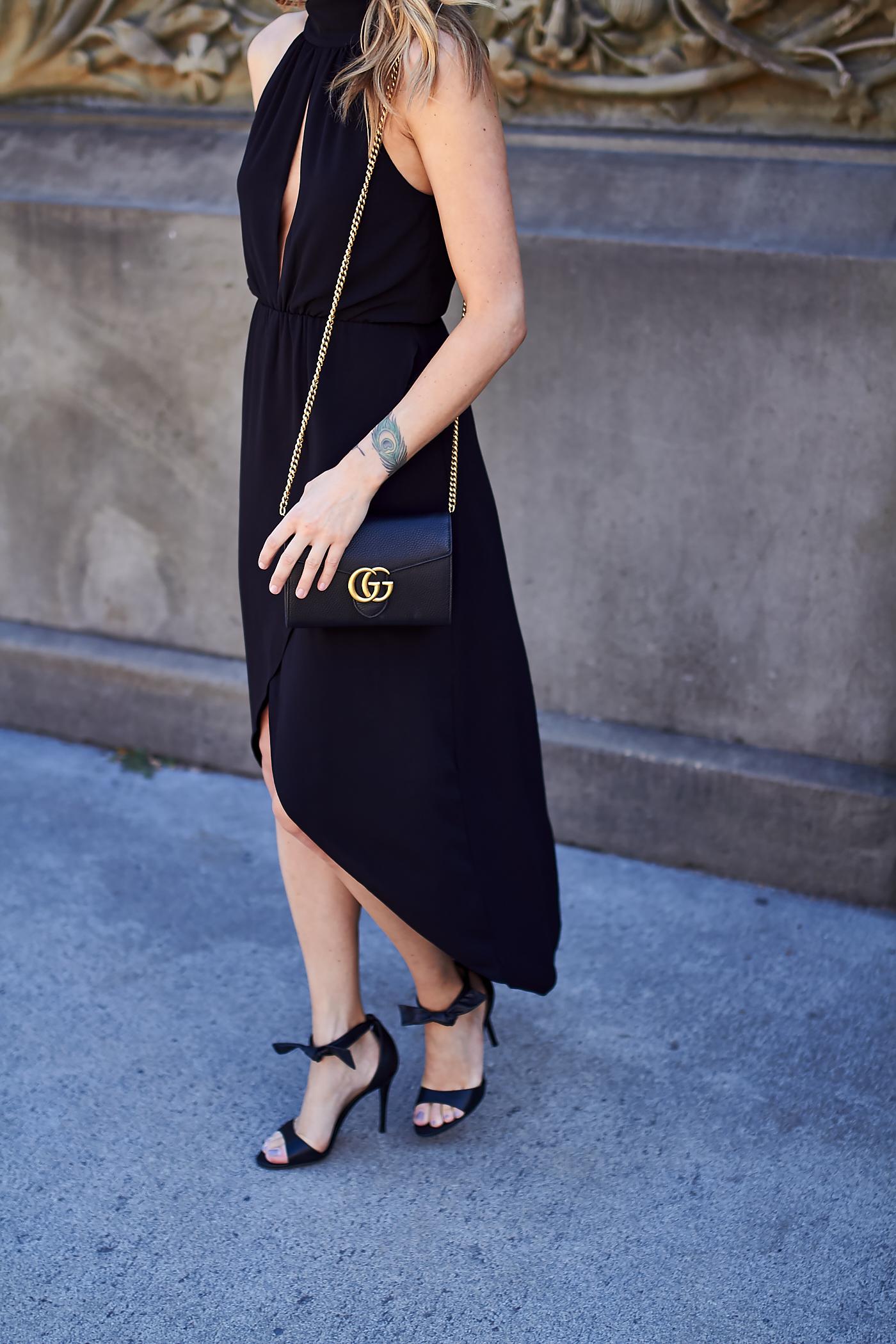 fashion-jackson-gucci-marmont-handbag-steve-madden-bow-heels-black-high-low-hem-dress