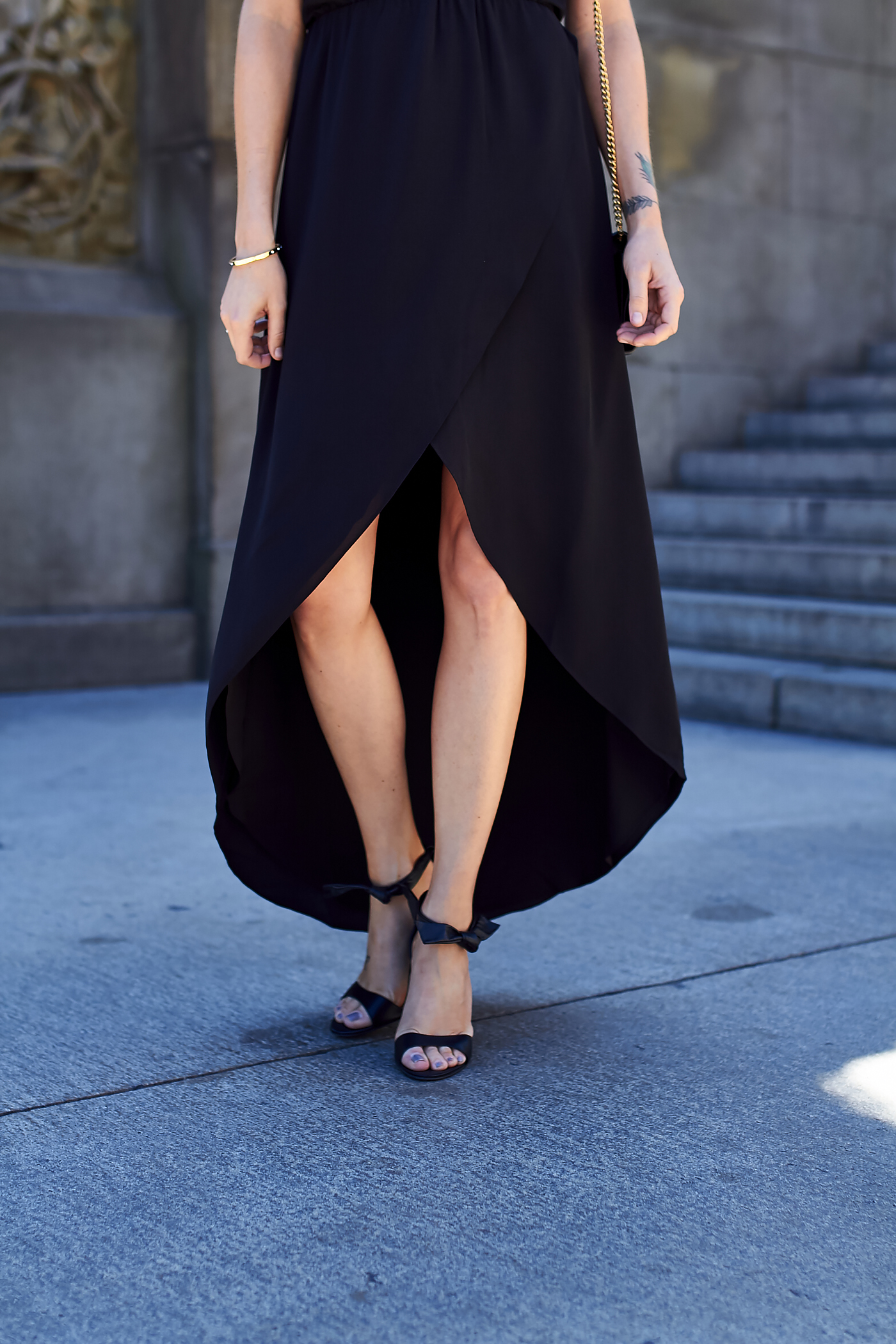 fashion-jackson-steve-madden-bow-heels-black-high-low-hem-dress