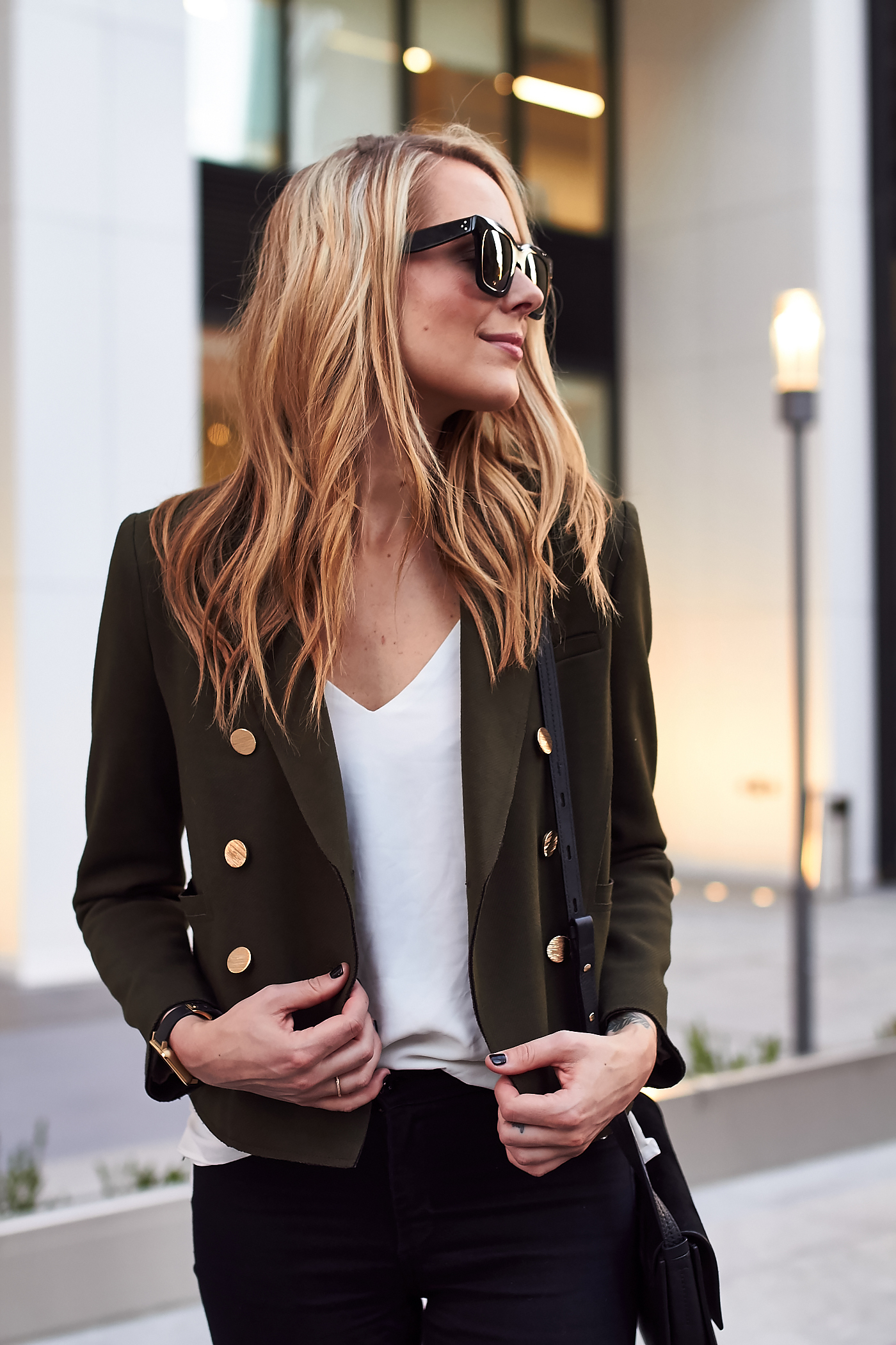 fashion-jackson-black-celine-sunglasses-topshop-green-military-blazer