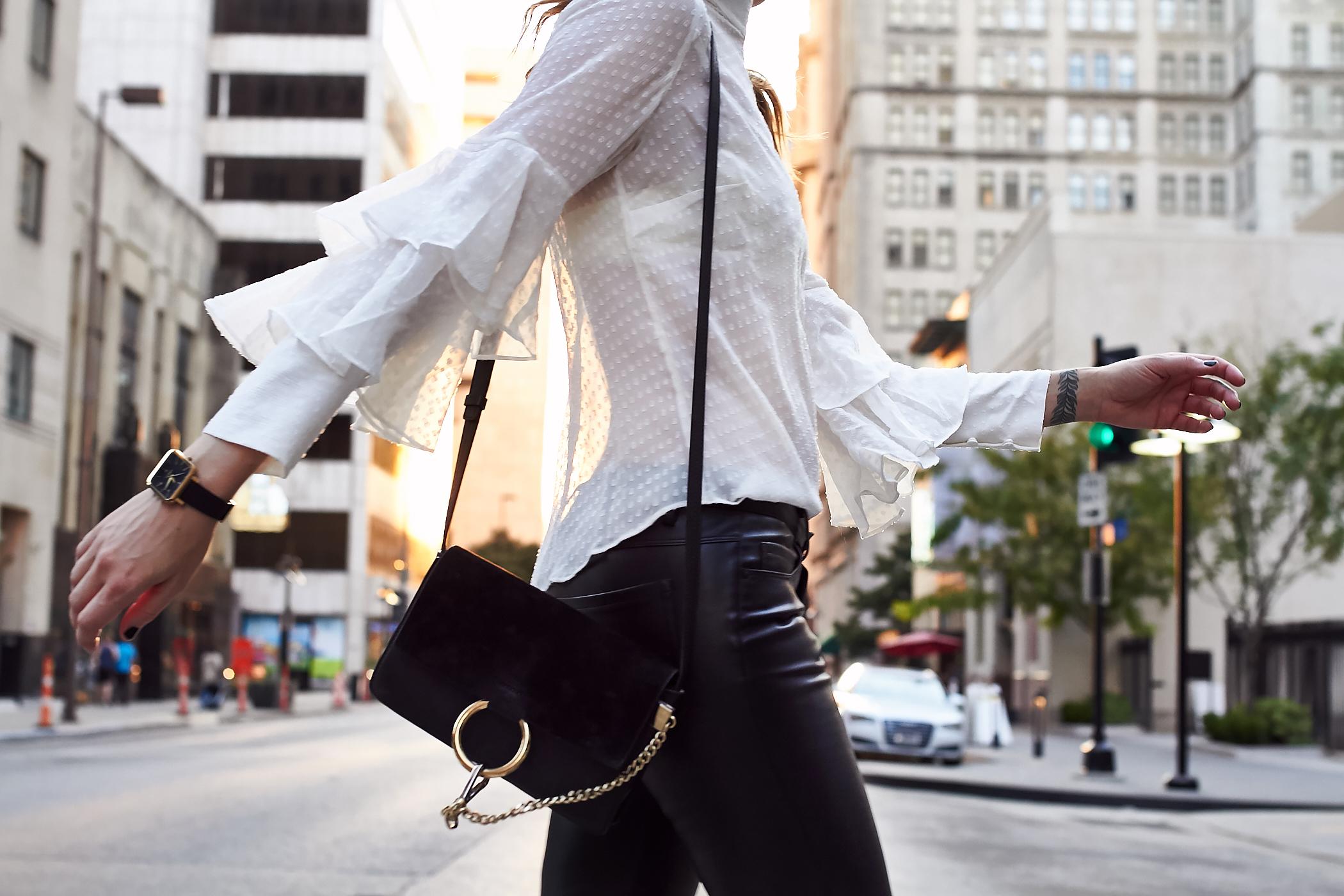 fashion-jackson-white-ruffle-sleeve-blouse-chloe-faye-black-handbag