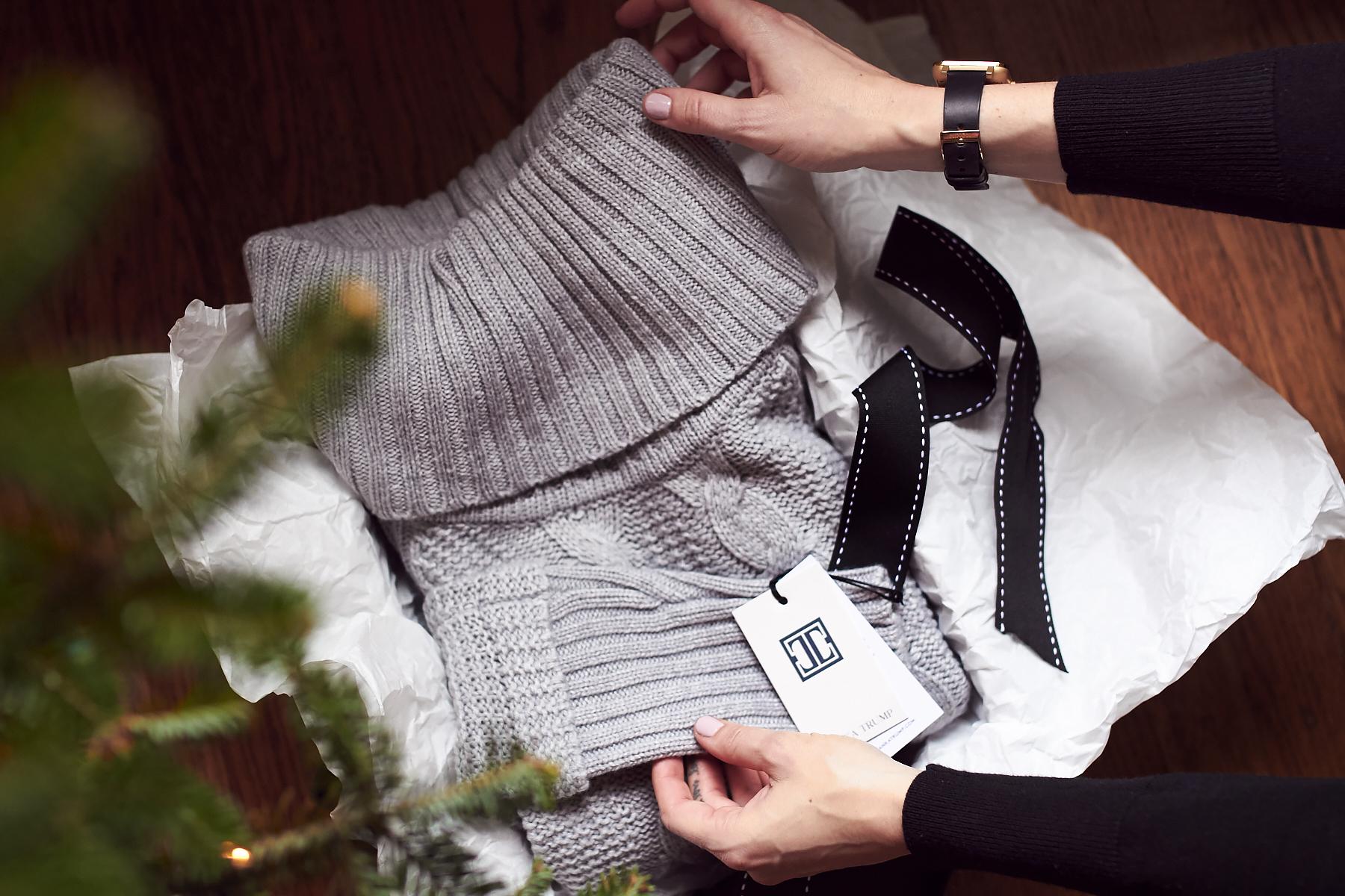 Holiday Gift Guide, Grey Sweater, Ivanka Trump