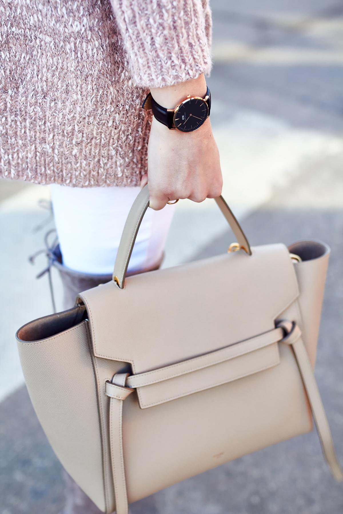 Celine Tie Belt Bag, Daniel Wellington Watch