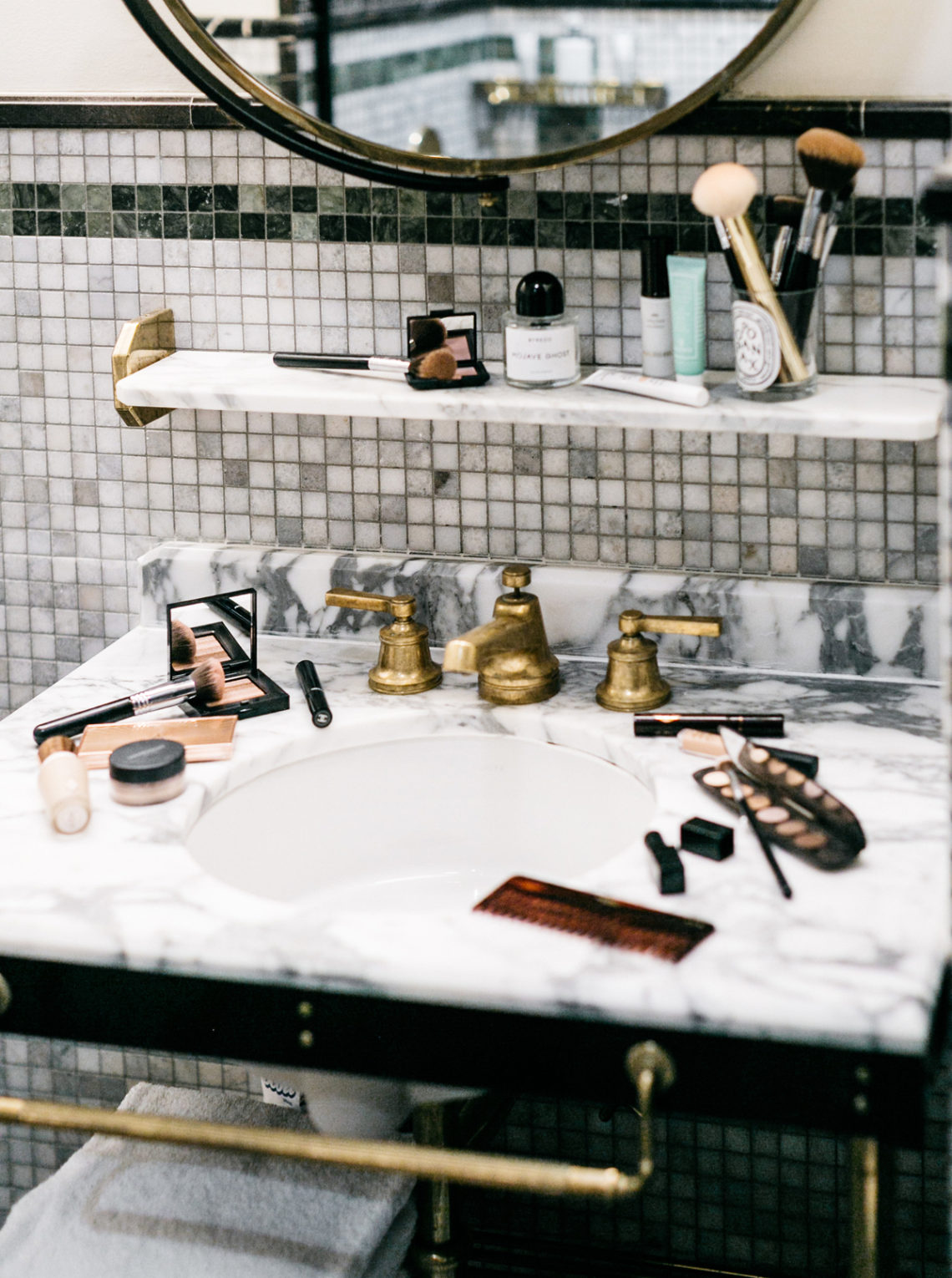 Beauty, Makeup, Skincare, Viceroy Central Park Hotel, Marble Bathroom