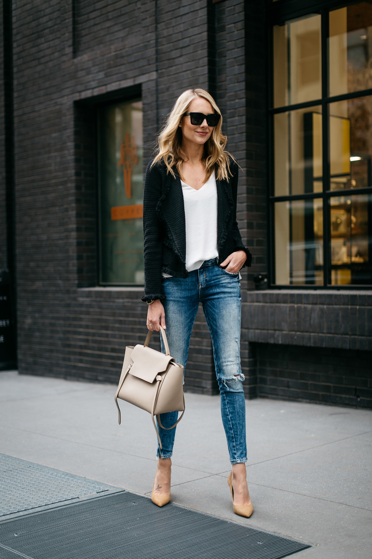 how to wear cardigans with jeans