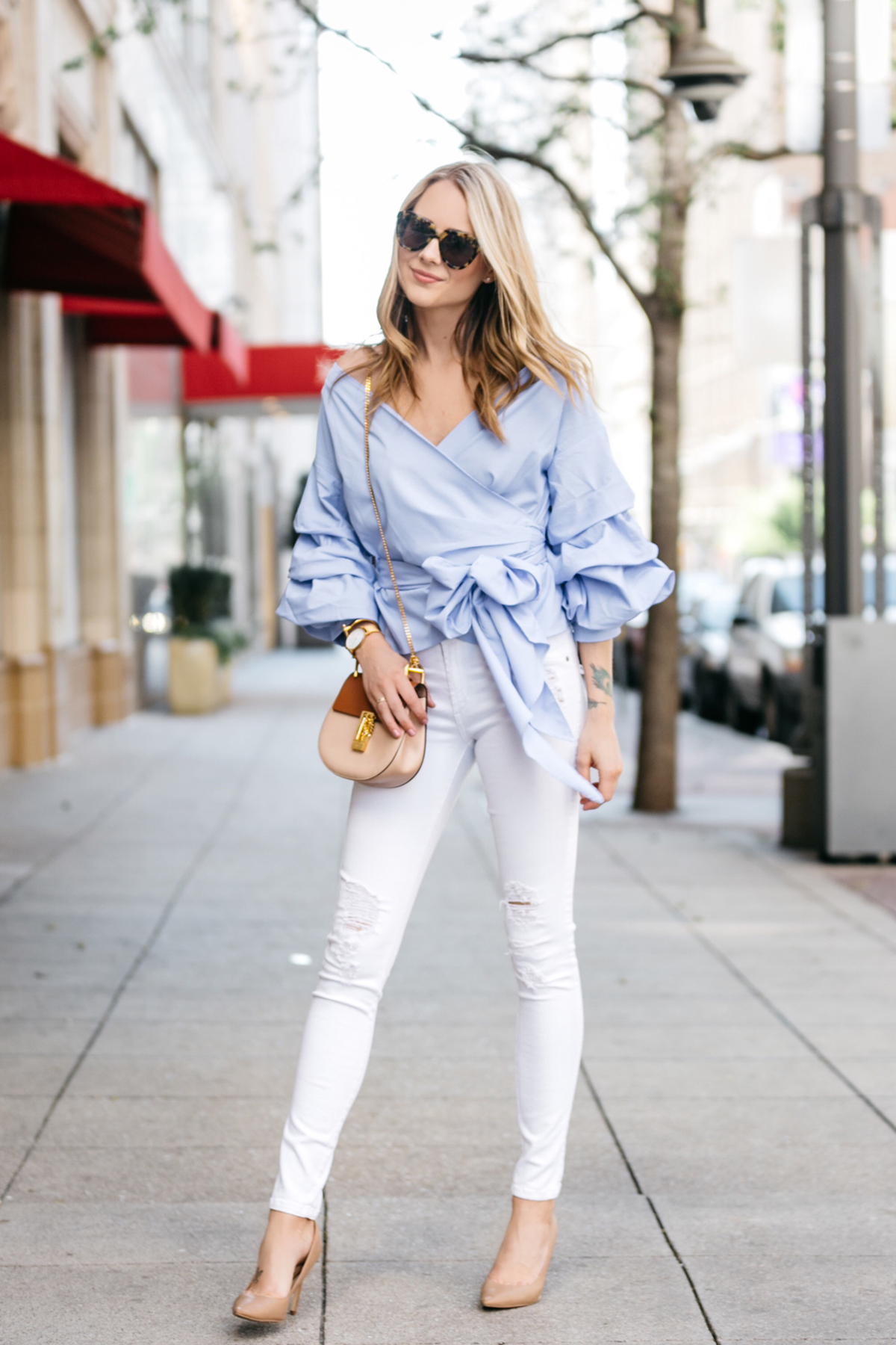 10 STYLISH BLUE TOPS FOR SPRING | Fashion Jackson