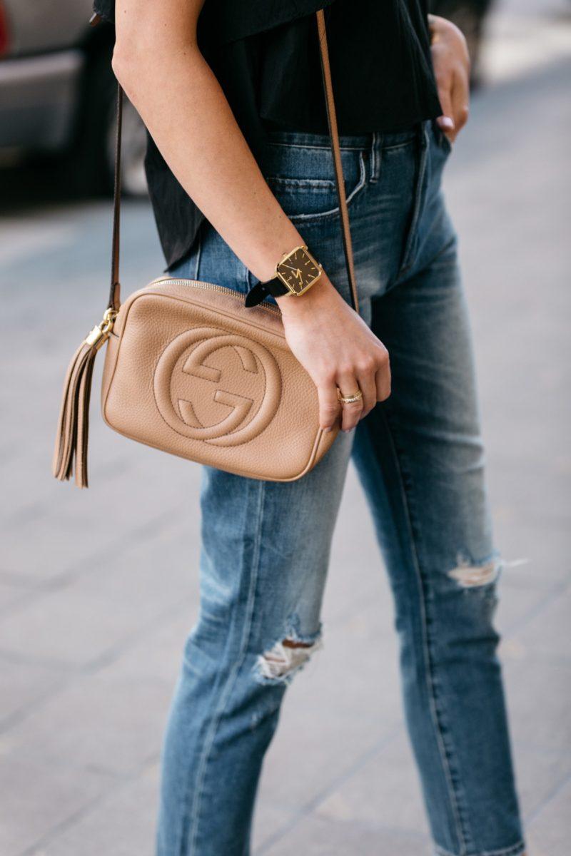 Fashion-jackson-gucci-soho-disco-handbag-ripped-skinny-jeans | Fashion Jackson