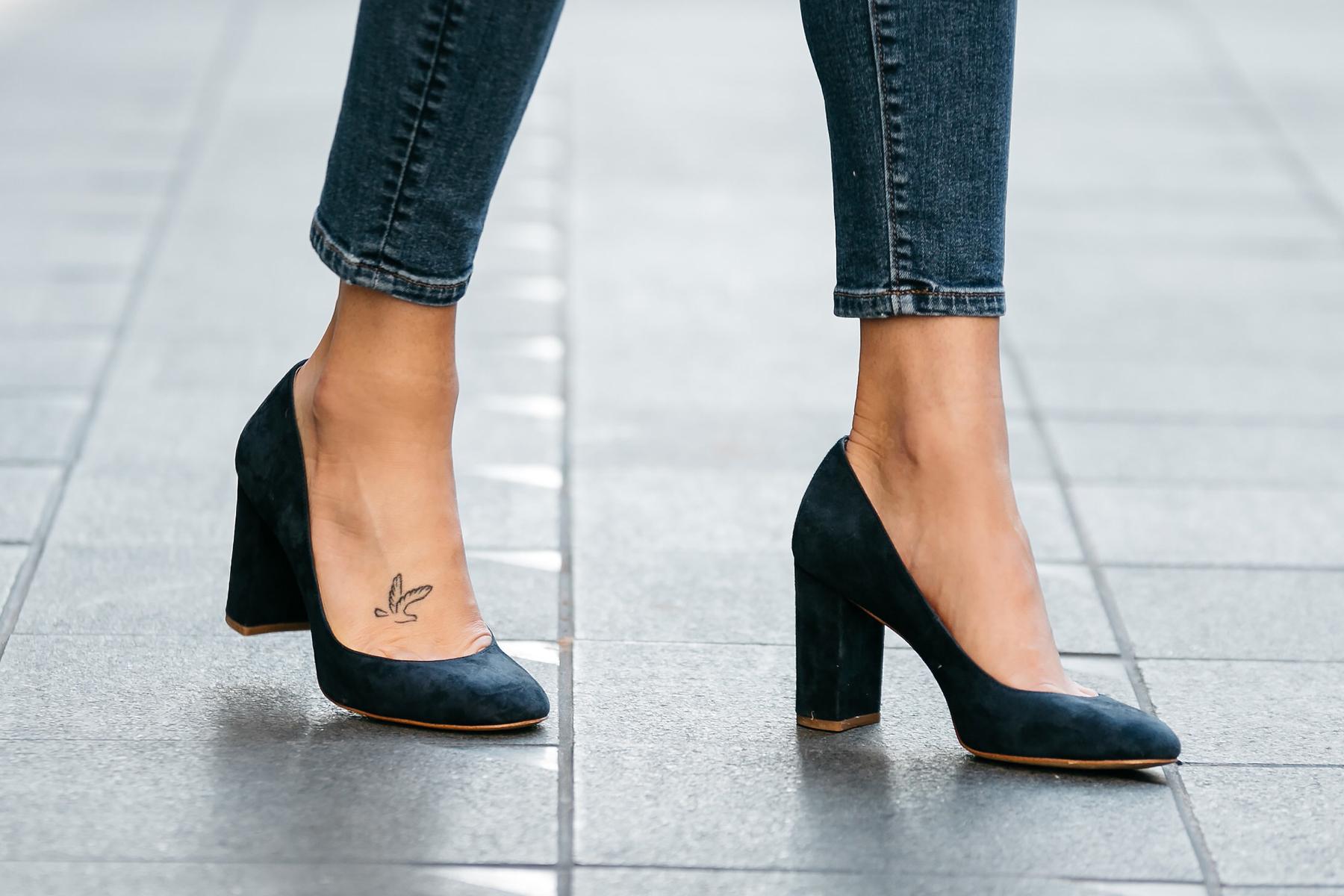 Fashion Jackson, Dallas Blogger, Fashion Blogger, Street Style, Ann Taylor Navy Suede Block Heel Pumps