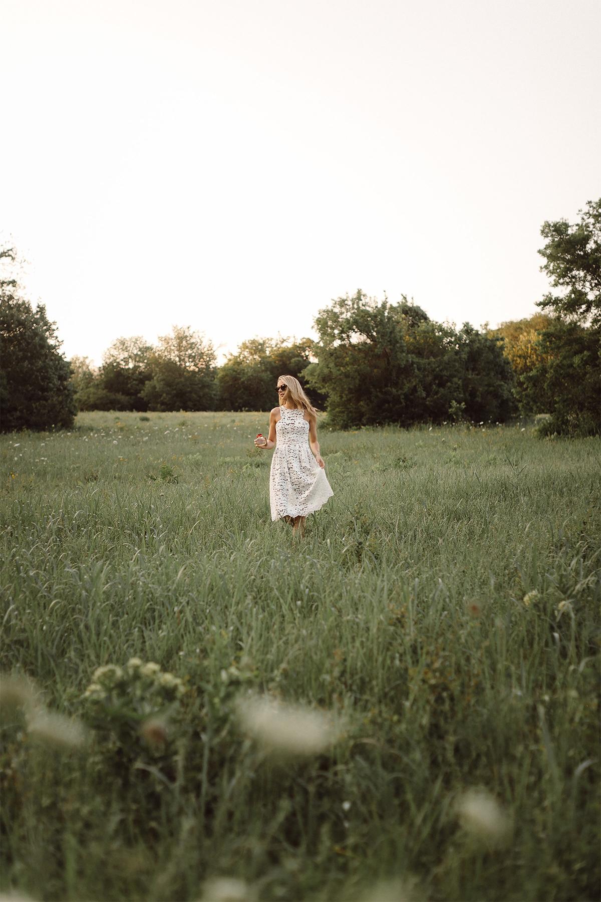Fashion Jackson, Dallas Blogger, Fashion Blogger, Beauty Blogger, L'Occitane Terre de Lumiere Parfum, White Lace Dress