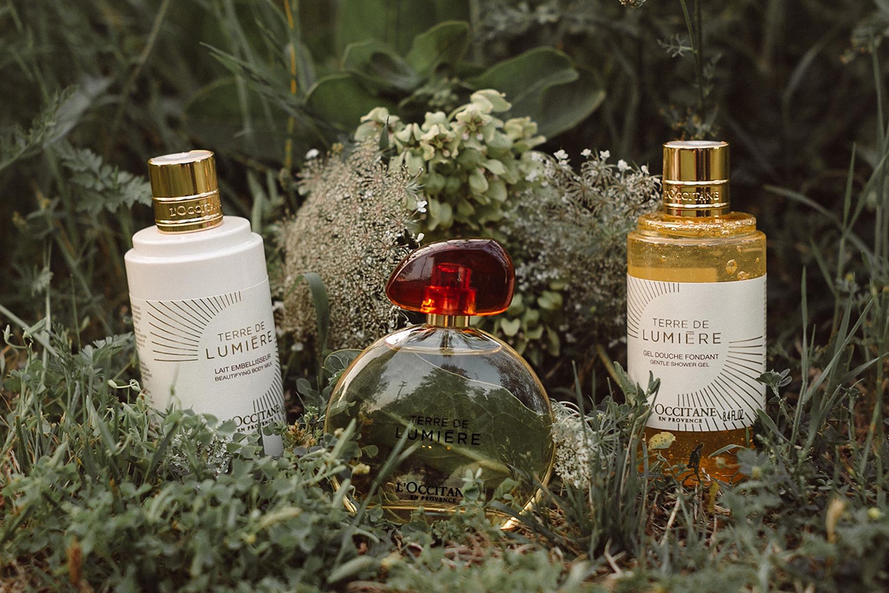 L'Occitane Terre de Lumiere Parfume, L'Occitane Terre de Lumiere Shower Gel, L'Occitane Terre de Lumiere Body Lotion