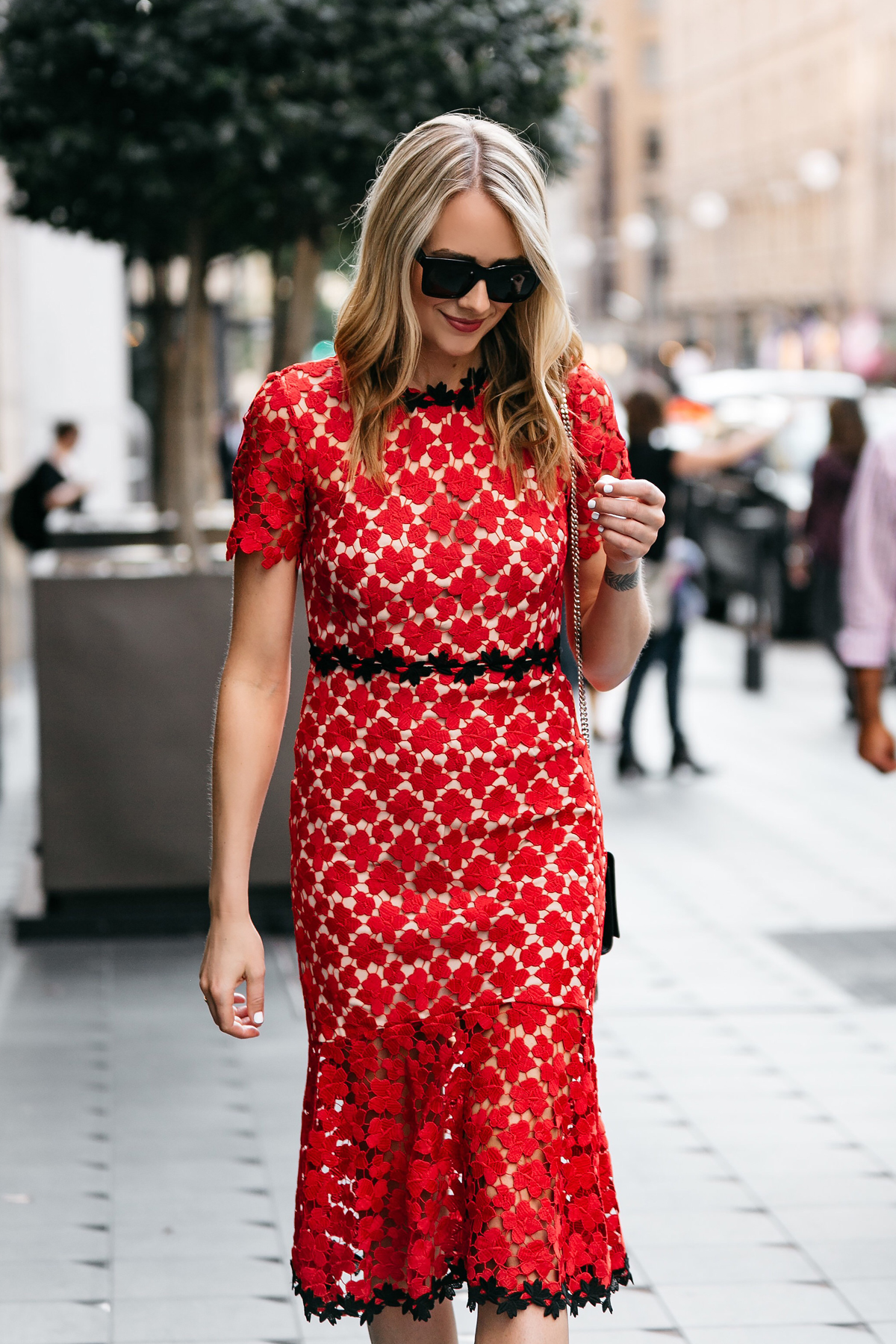 Fashion Jackson, Dallas Blogger, Fashion Blogger, Street Style, Jill Stuart Floral Red Lace Dress