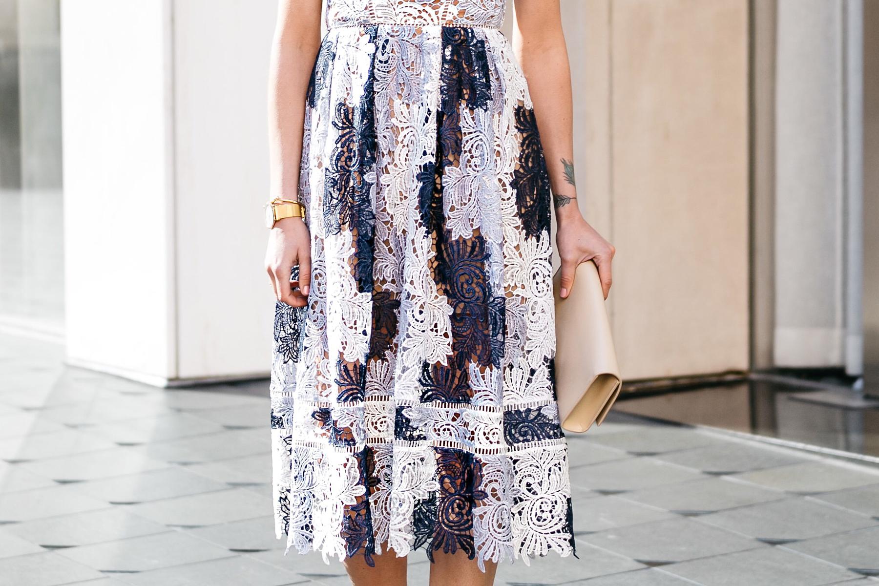 Fashion Jackson, Dallas Blogger, Fashion Blogger, Street Style, Self-Portrait Camellias Lace Dress