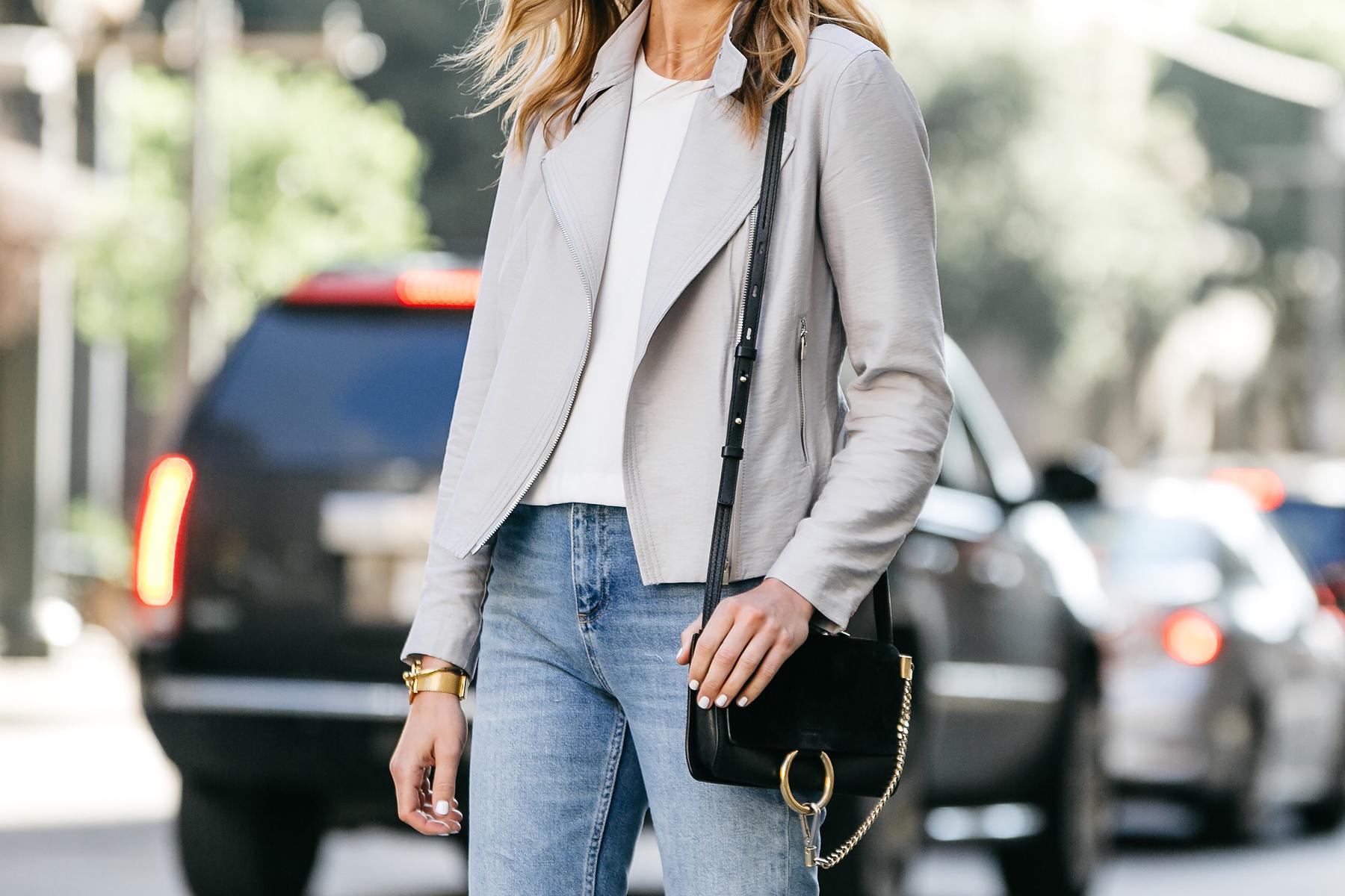 Fashion Jackson, Dallas Blogger, Fashion Blogger, Street Style, Club Monaco Tovah Jacket, White Top, Chloe Faye Black Handbag