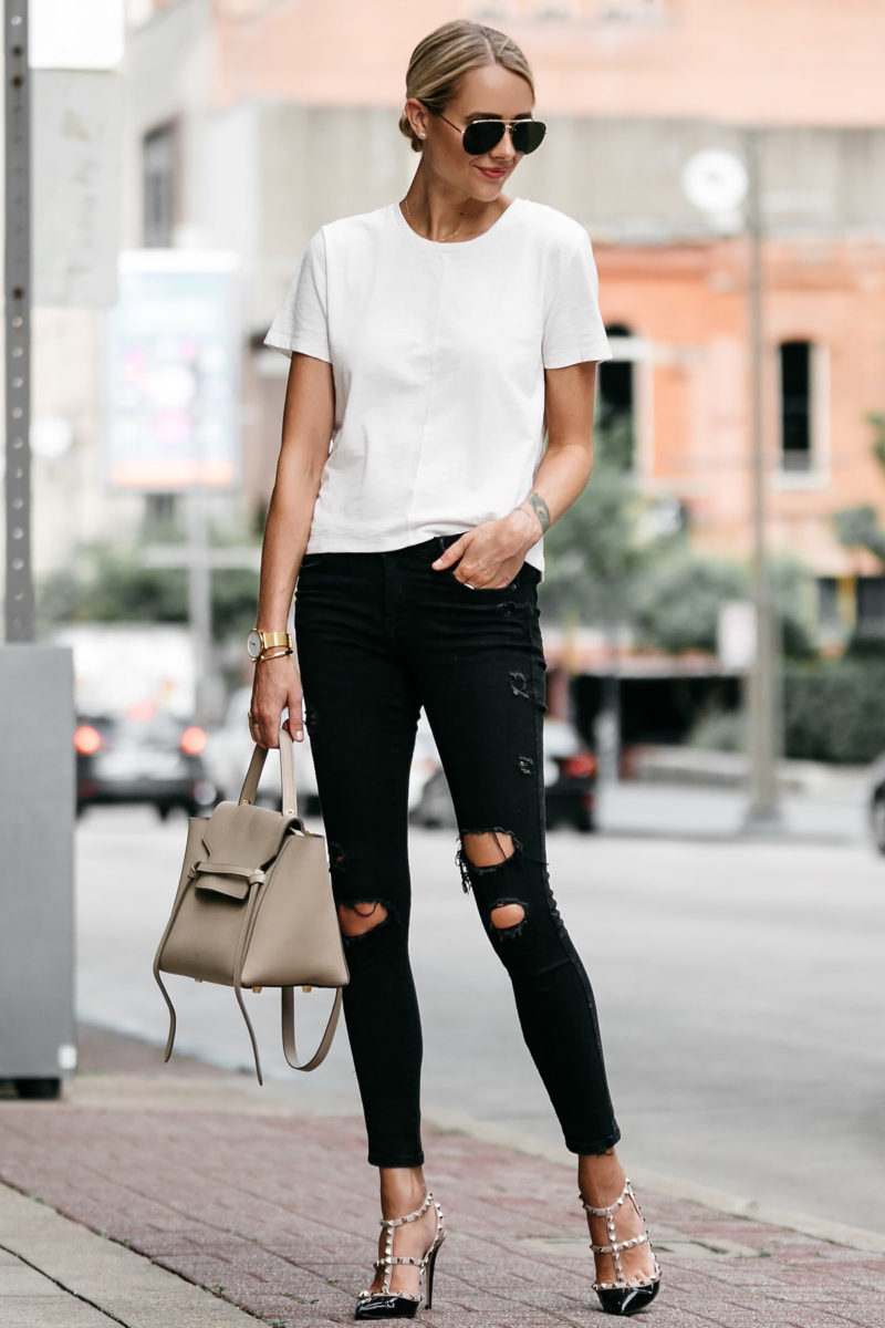 marvelous ripped jeans and tshirt outfit
