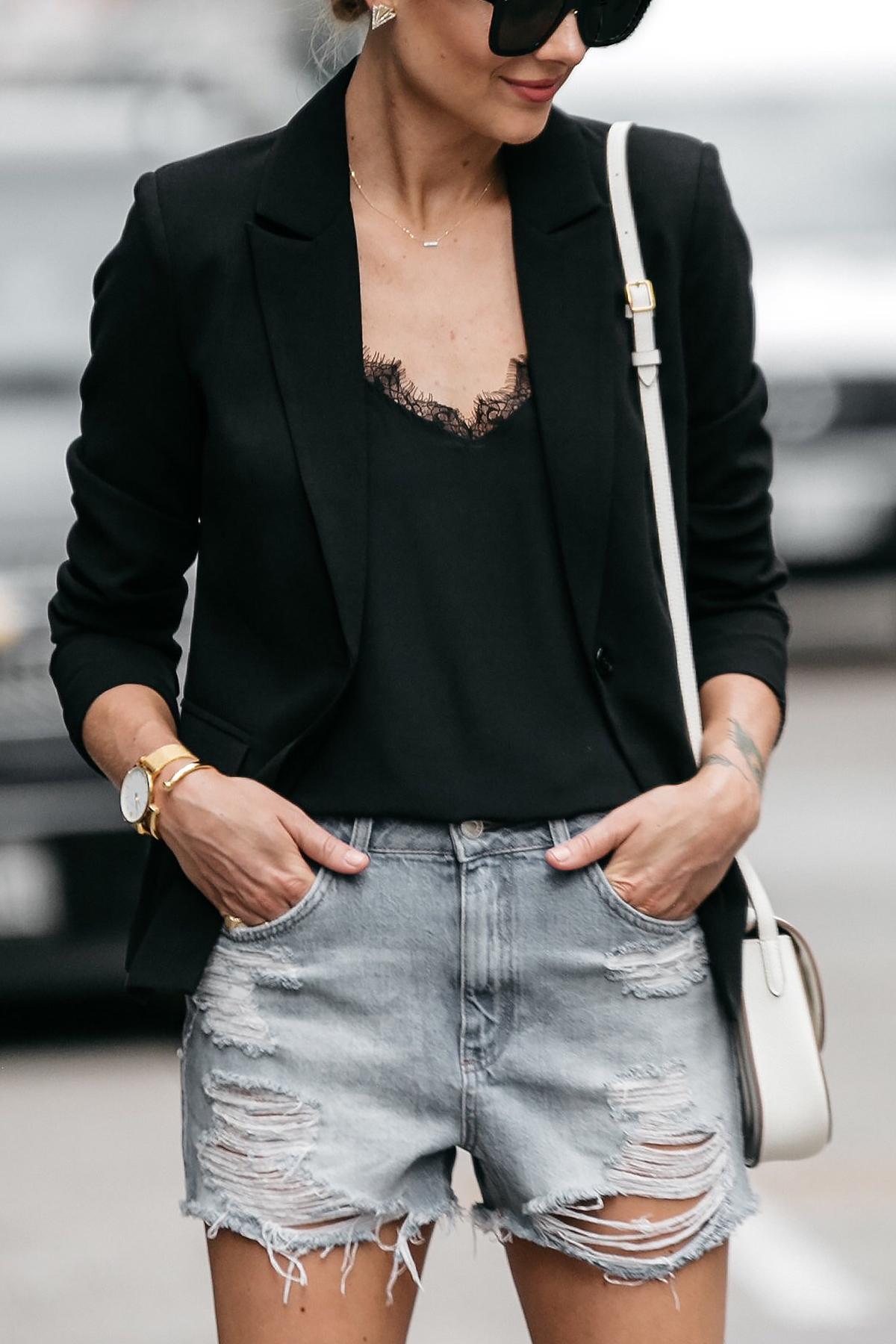An Edgy Black Blazer Outfit Fashion Jackson