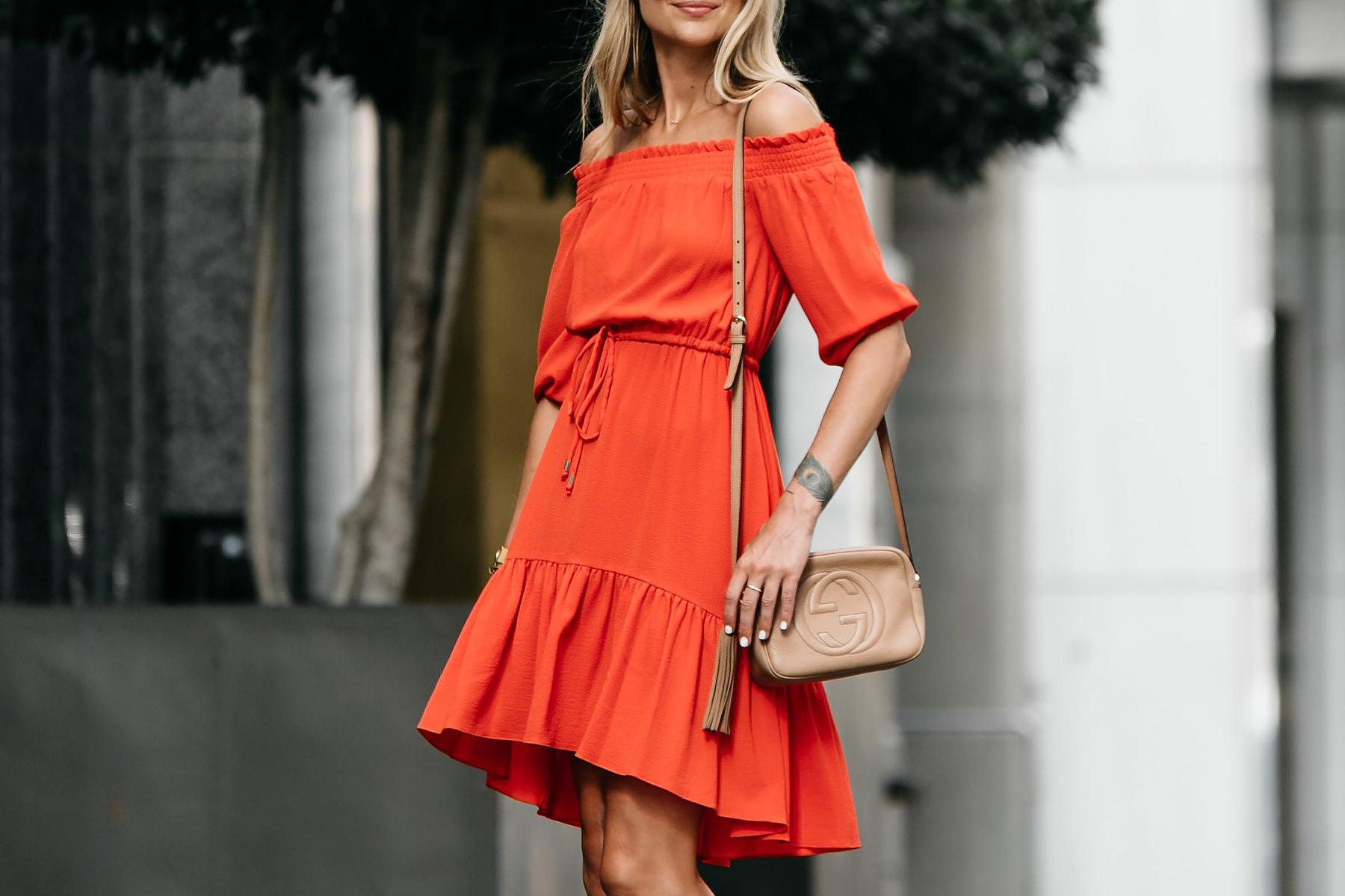 Vince Camuto Red off-the-shoulder Dress