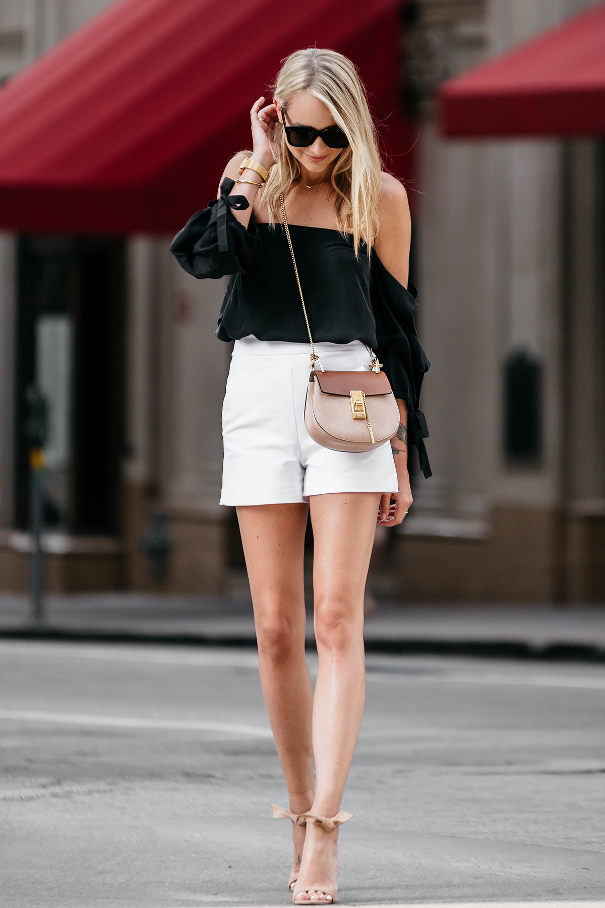 HOW TO WEAR WHITE HIGH WAISTED SHORTS THIS SEASON | Fashion Jackson