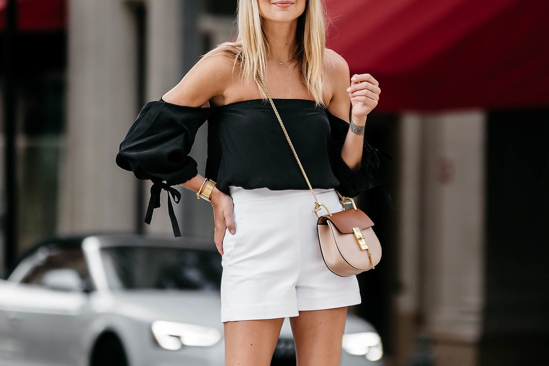 How to white wear high waisted shorts