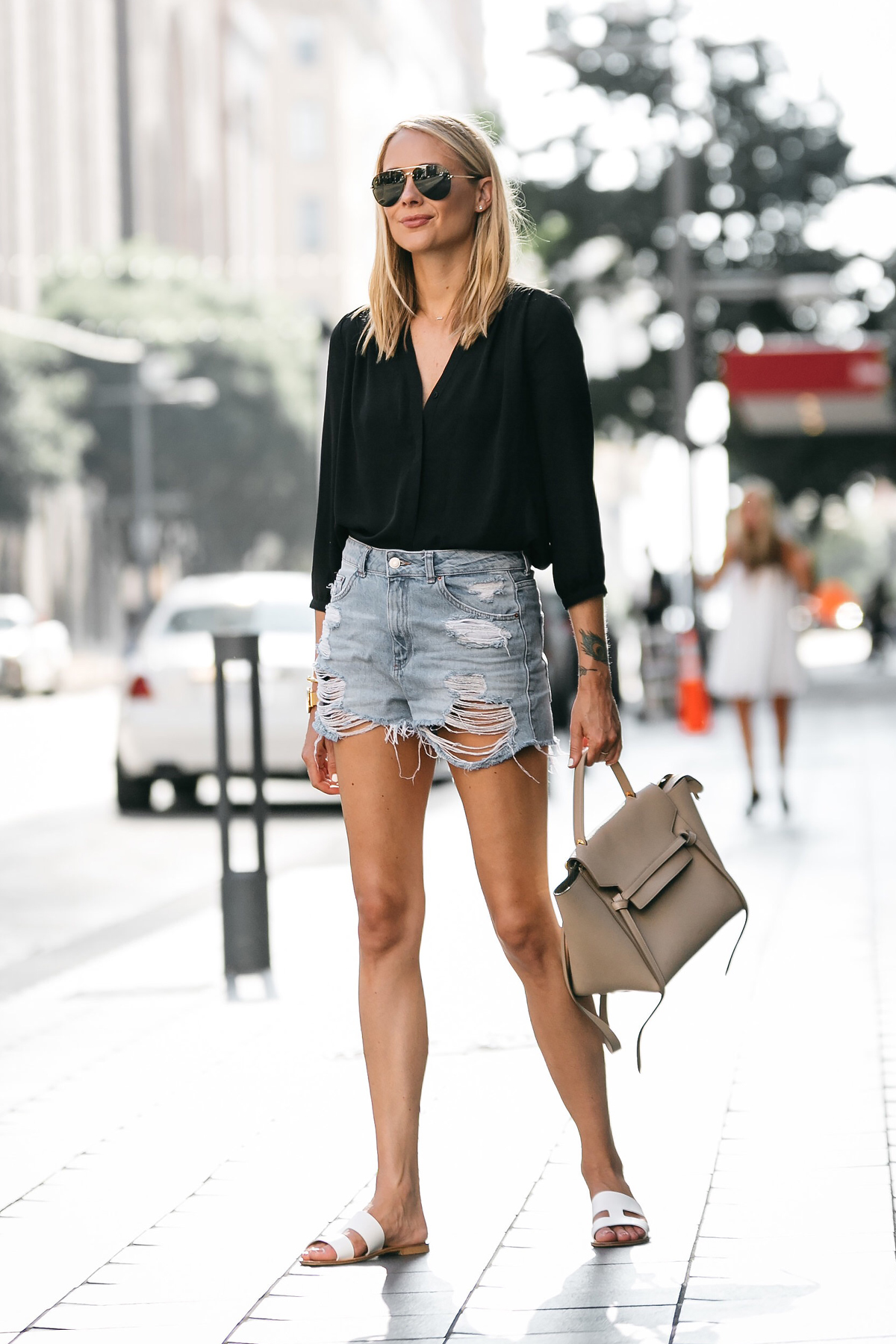 MY RIPPED DENIM SHORTS WEEKEND OUTFIT | Fashion Jackson