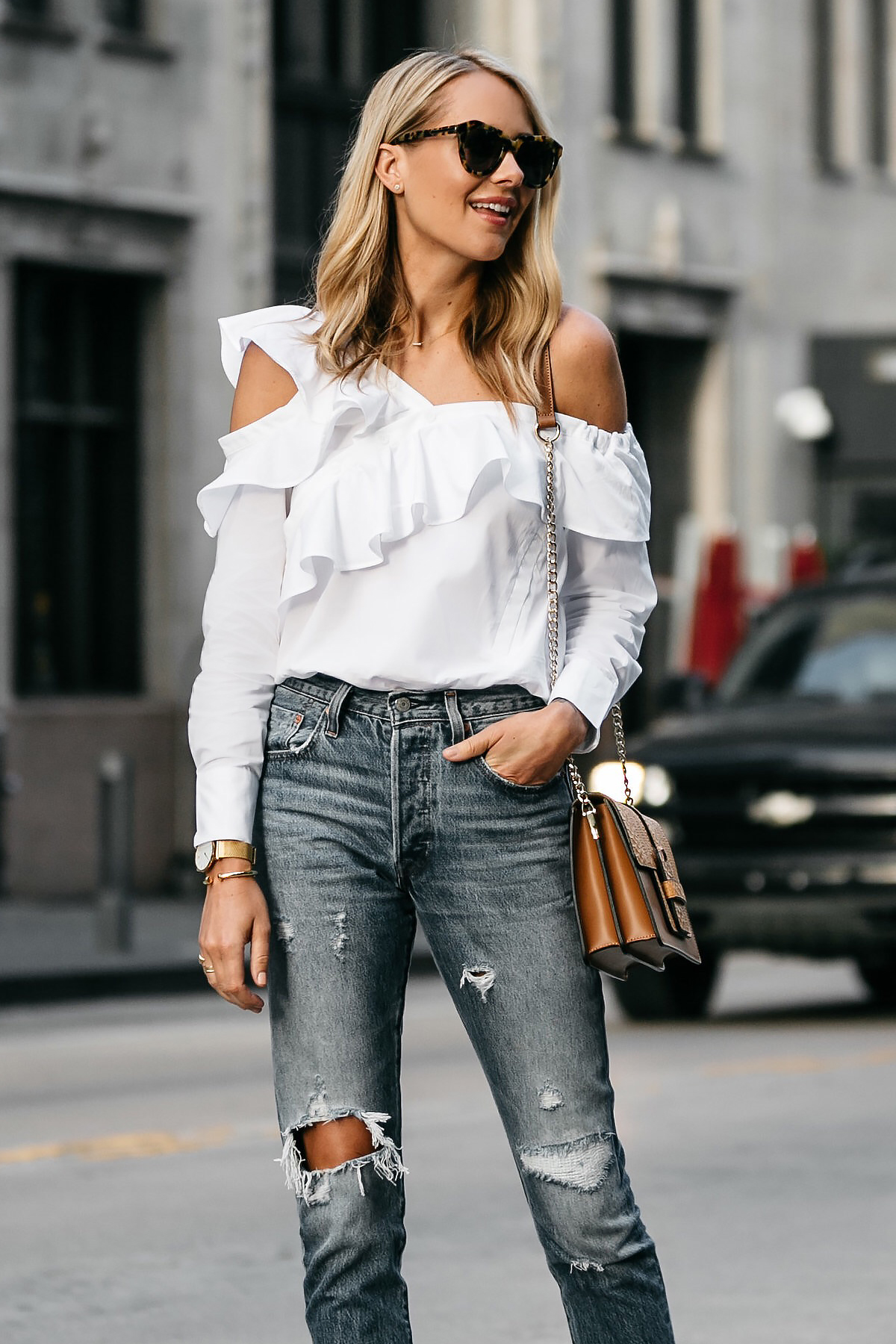 THE PERFECT ASYMMETRICAL RUFFLE TOP