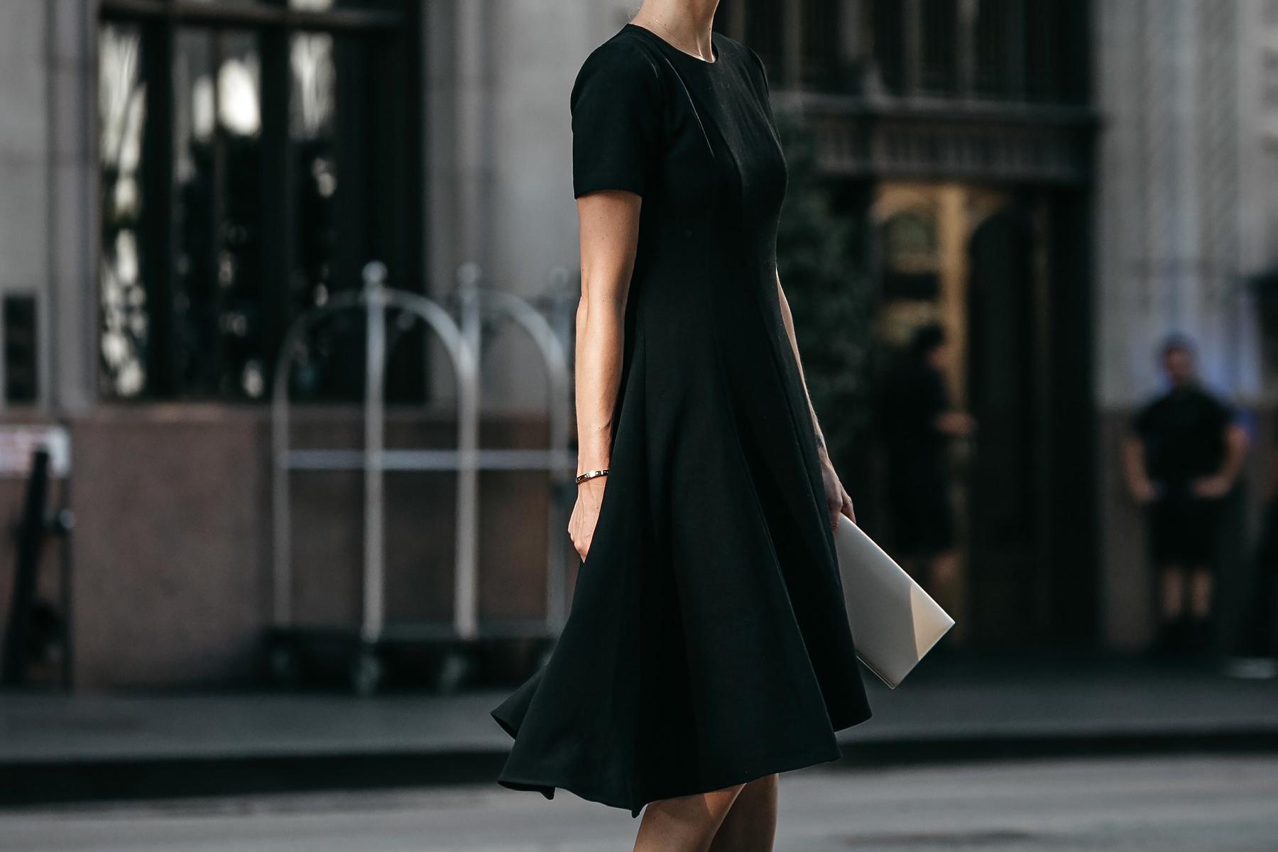 Black Halo Asymmetrical Little Black Dress Fashion Jackson Dallas Blogger Fashion Blogger Street Style