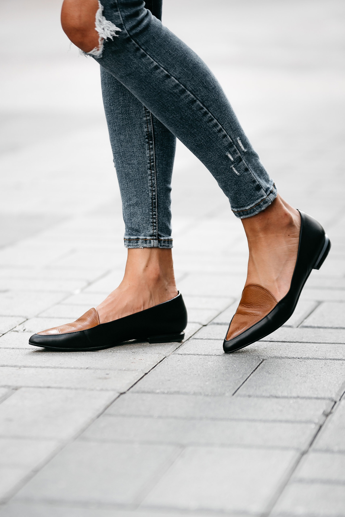 Everlane Black Tan Loafers Fashion Jackson Dallas Blogger Fashion Blogger Street Style