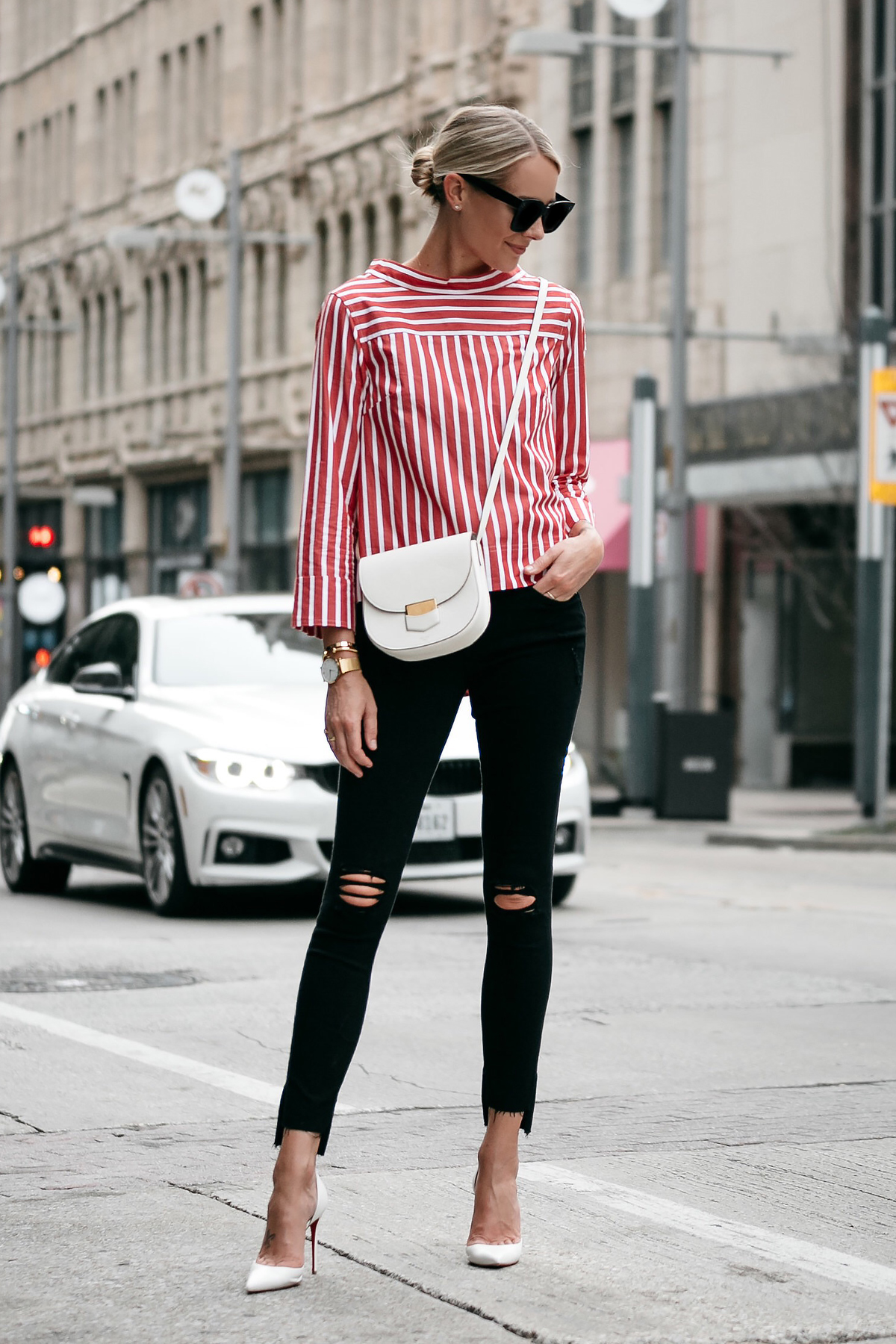 10 red striped shirts to wear this season fashion jackson for Skinny jeans with shirt
