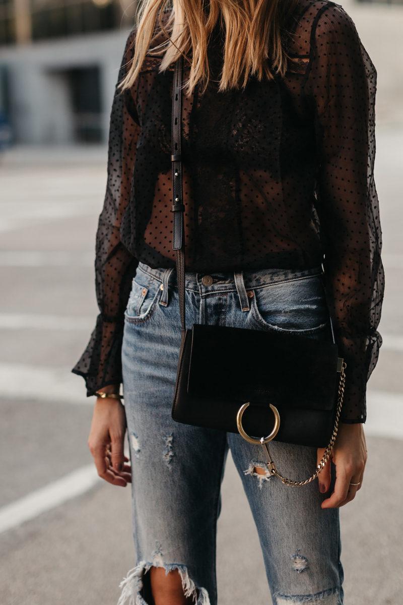 Fashion Jackson Anine Bing Black Lace Top Chloe Faye Black