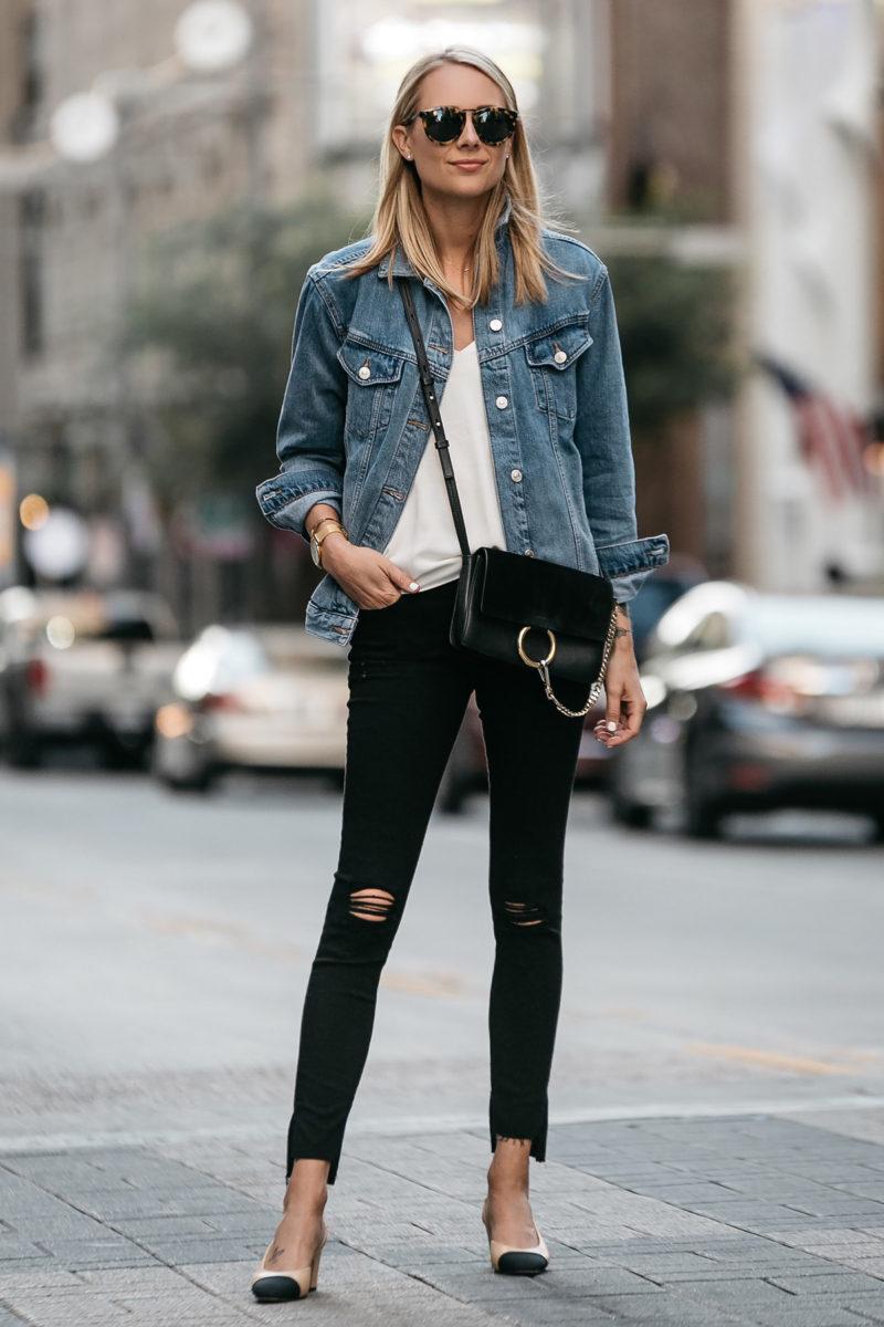 Fashion Jackson Topshop Oversized Denim Jacket Frame Black ...
