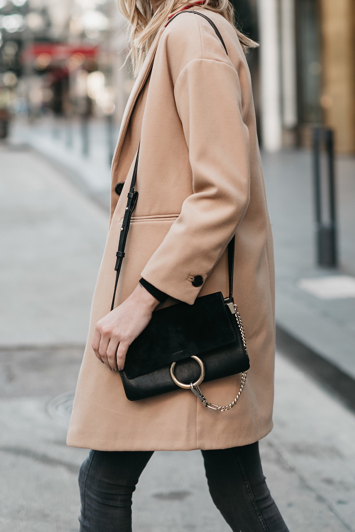 Topshop Camel Coat Chloe Faye Black Handbag Fashion Jackson Dallas Blogger Fashion Blogger Street Style