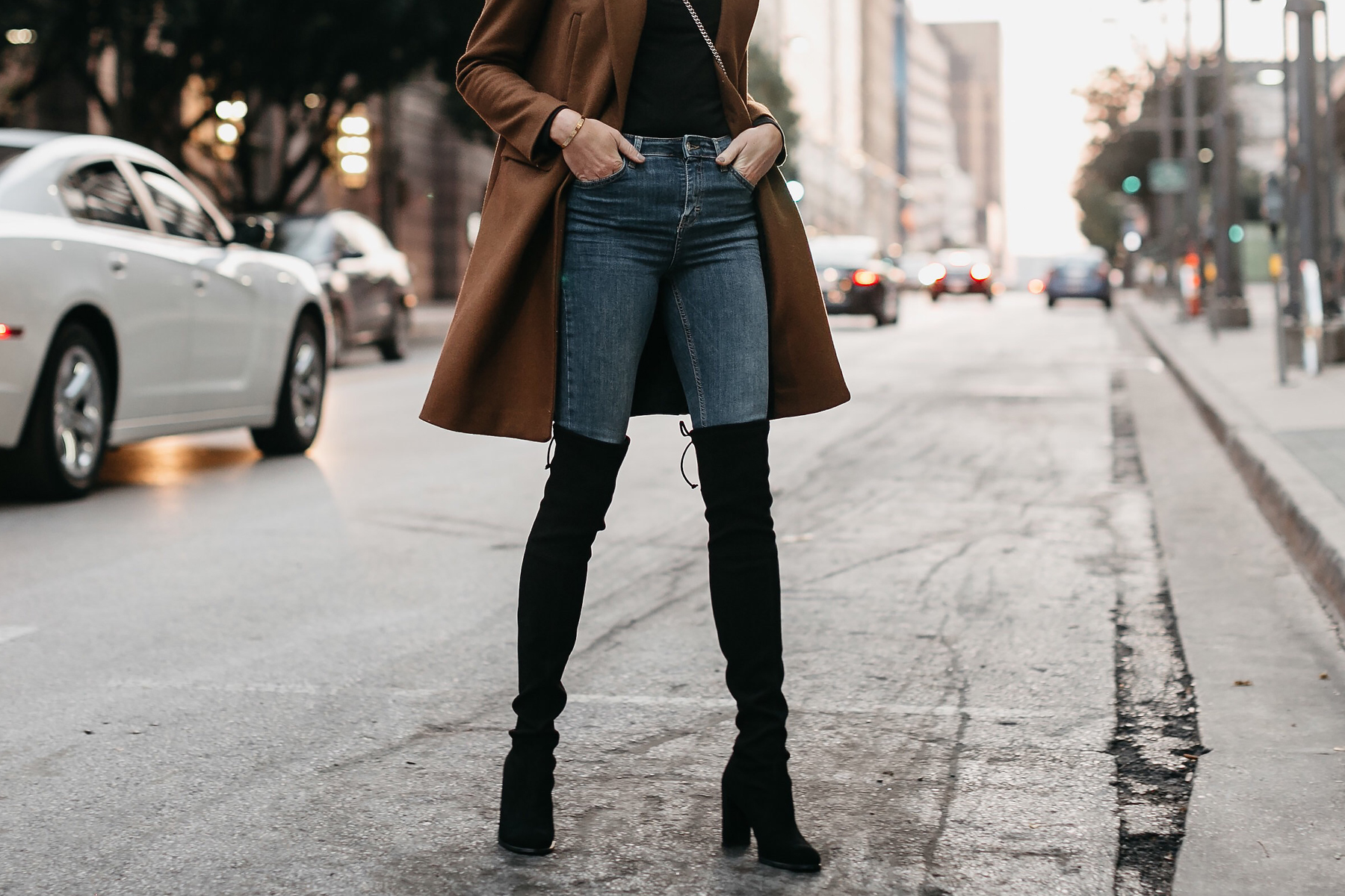 Denim Skinny Jeans Stuart Weitzman Black Over the Knee Boots Fashion Jackson Dallas Blogger Fashion Blogger Street Style