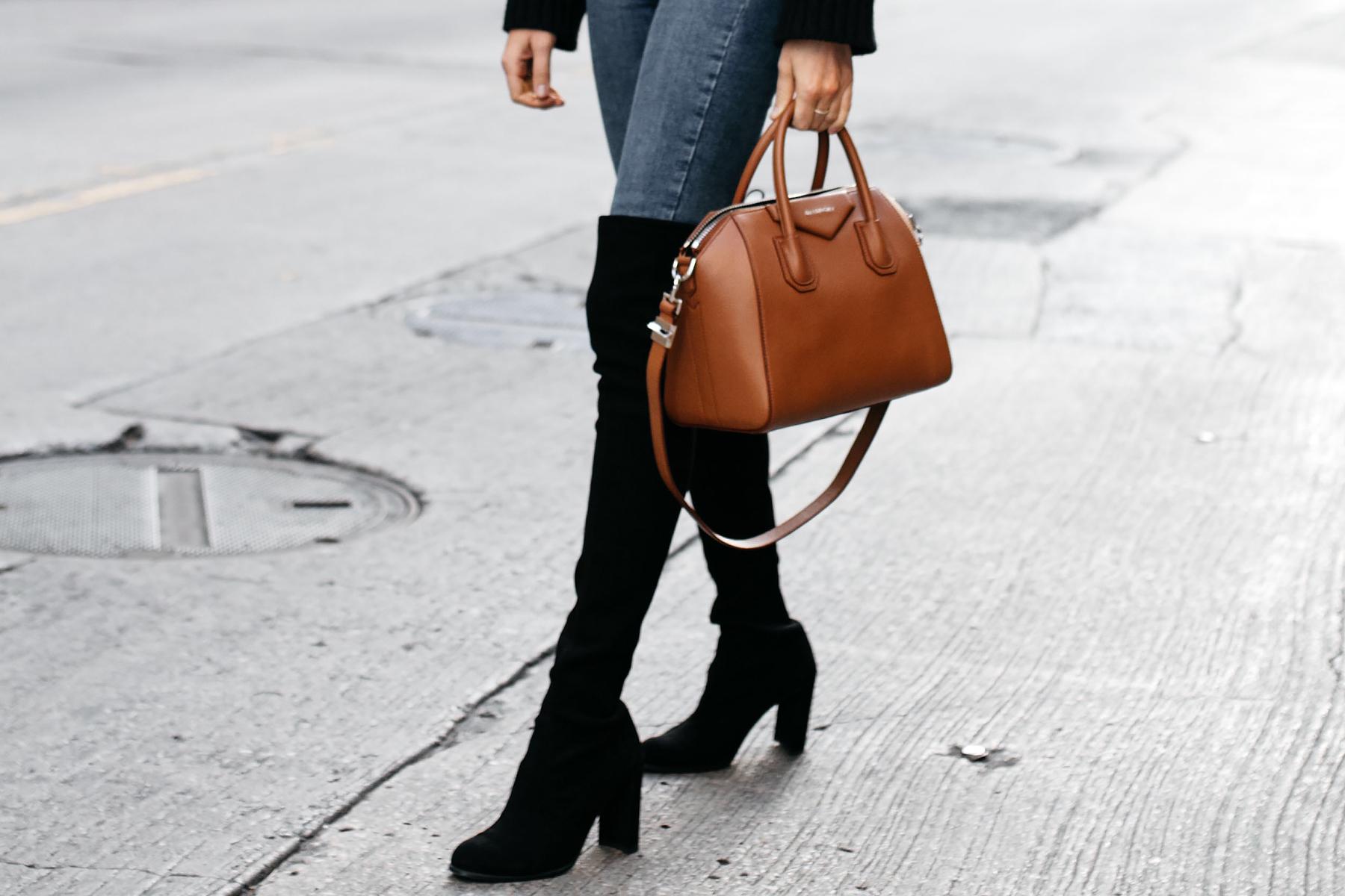 Givenchy Antigona Cognac Satchel Stuart Weitzman Over the Knee Boots Fashion Jackson Dallas Blogger Fashion Blogger Street Style