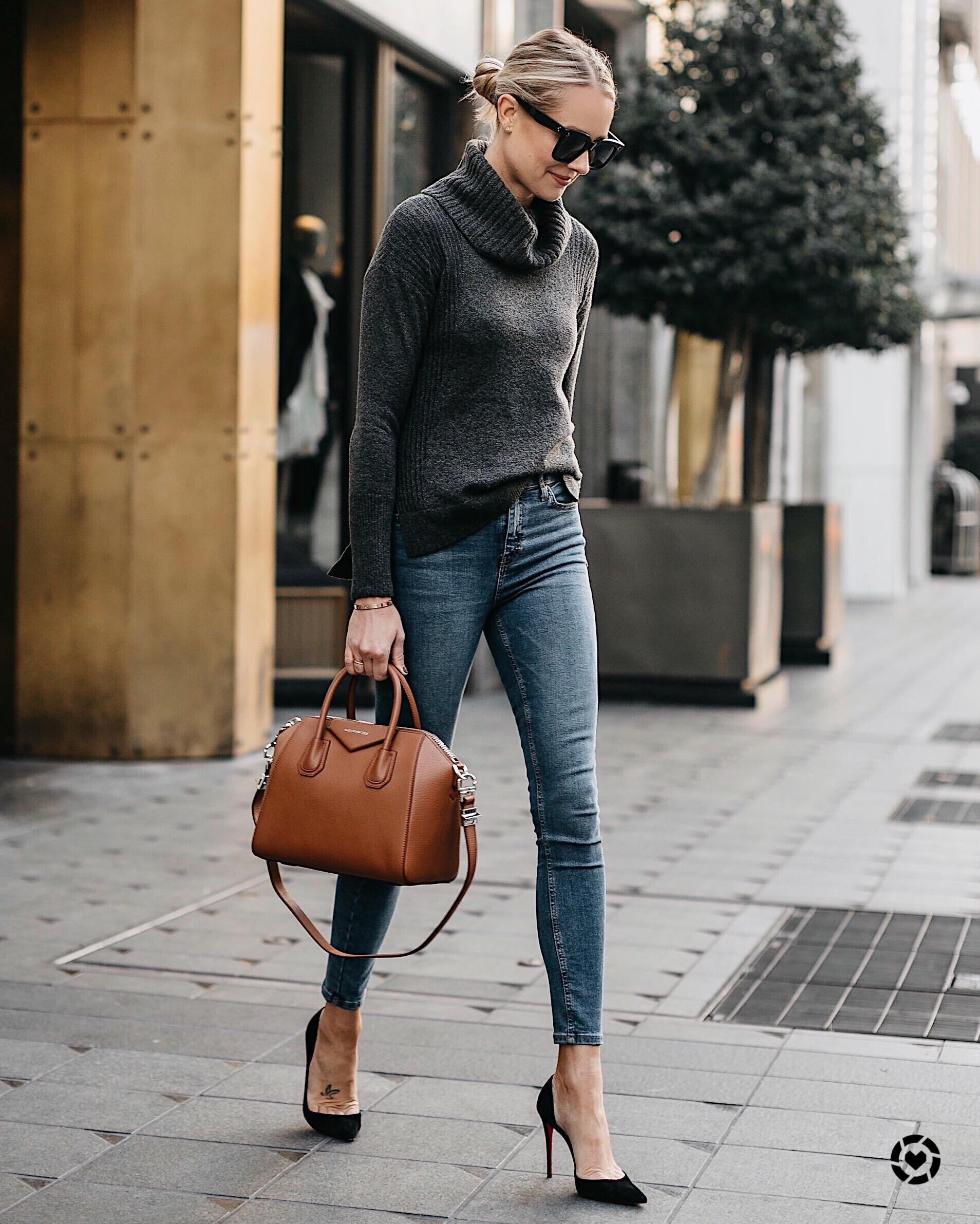 handbag jeans skinny jackson givenchy antigona grey designer cognac blonde woman instagram wearing street why invest outfits fashionjackson sweater pumps