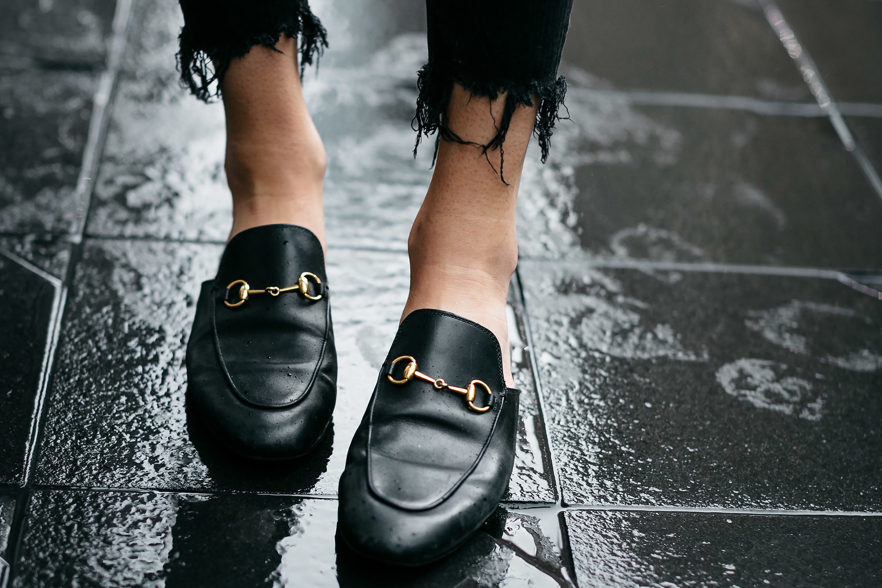 Woman Wearing Gucci Princetown Black Mules Fashion Jackson Dallas Blogger Fashion Blogger Street Style
