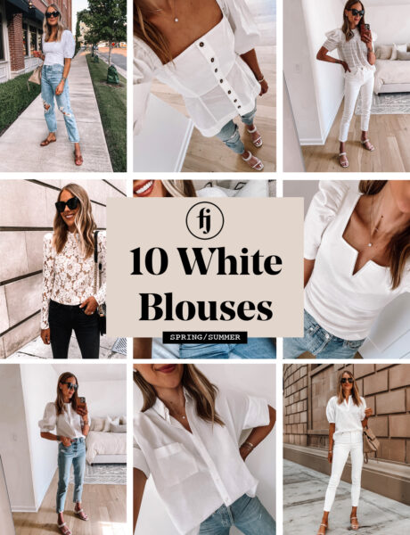 10 White Blouses to for Spring