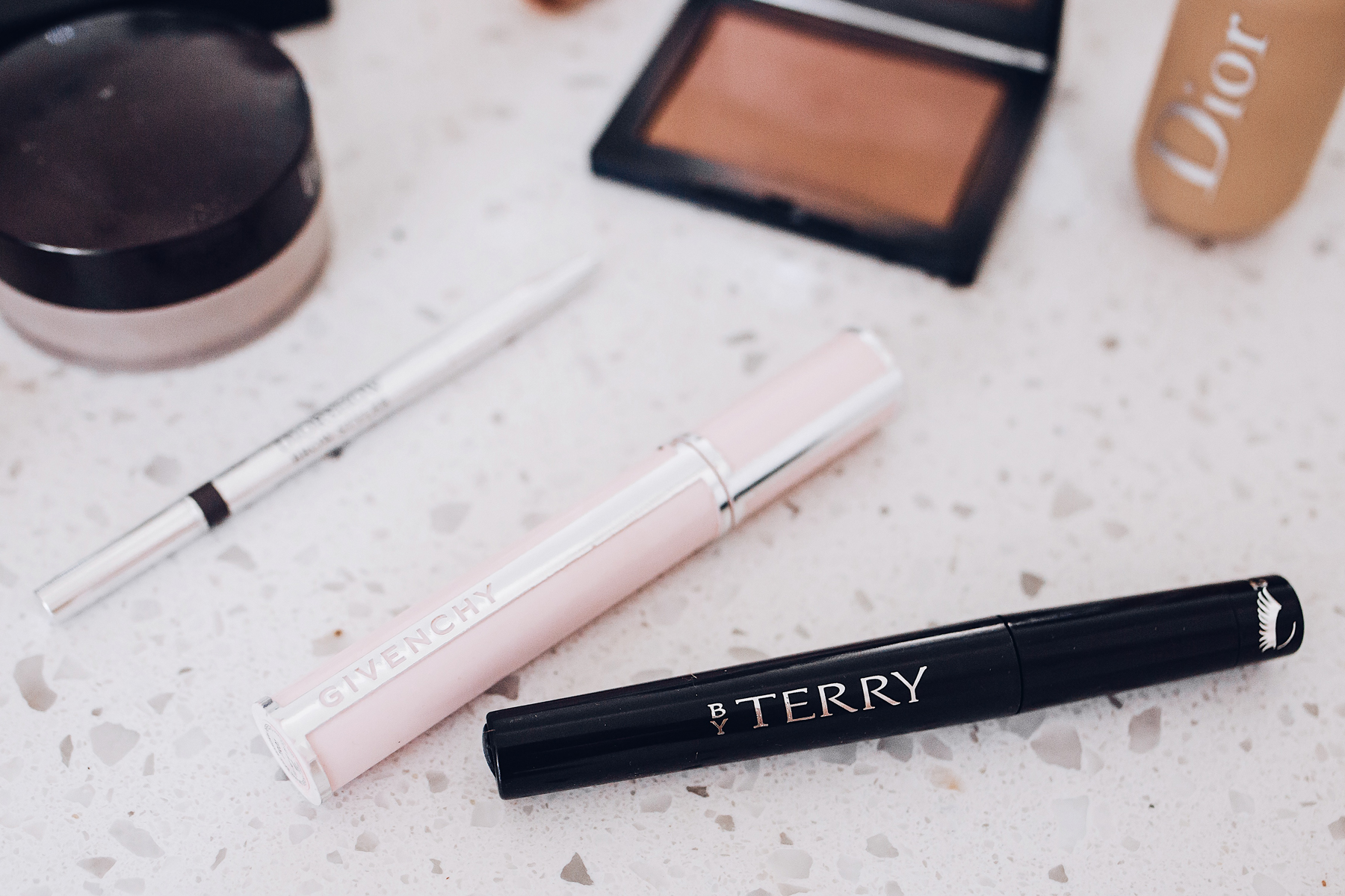 Fashion Jackson Daily Makeup Beauty Routine By Terry Lash Expert Twist Brush Mascara DiorShow Brow Pencil