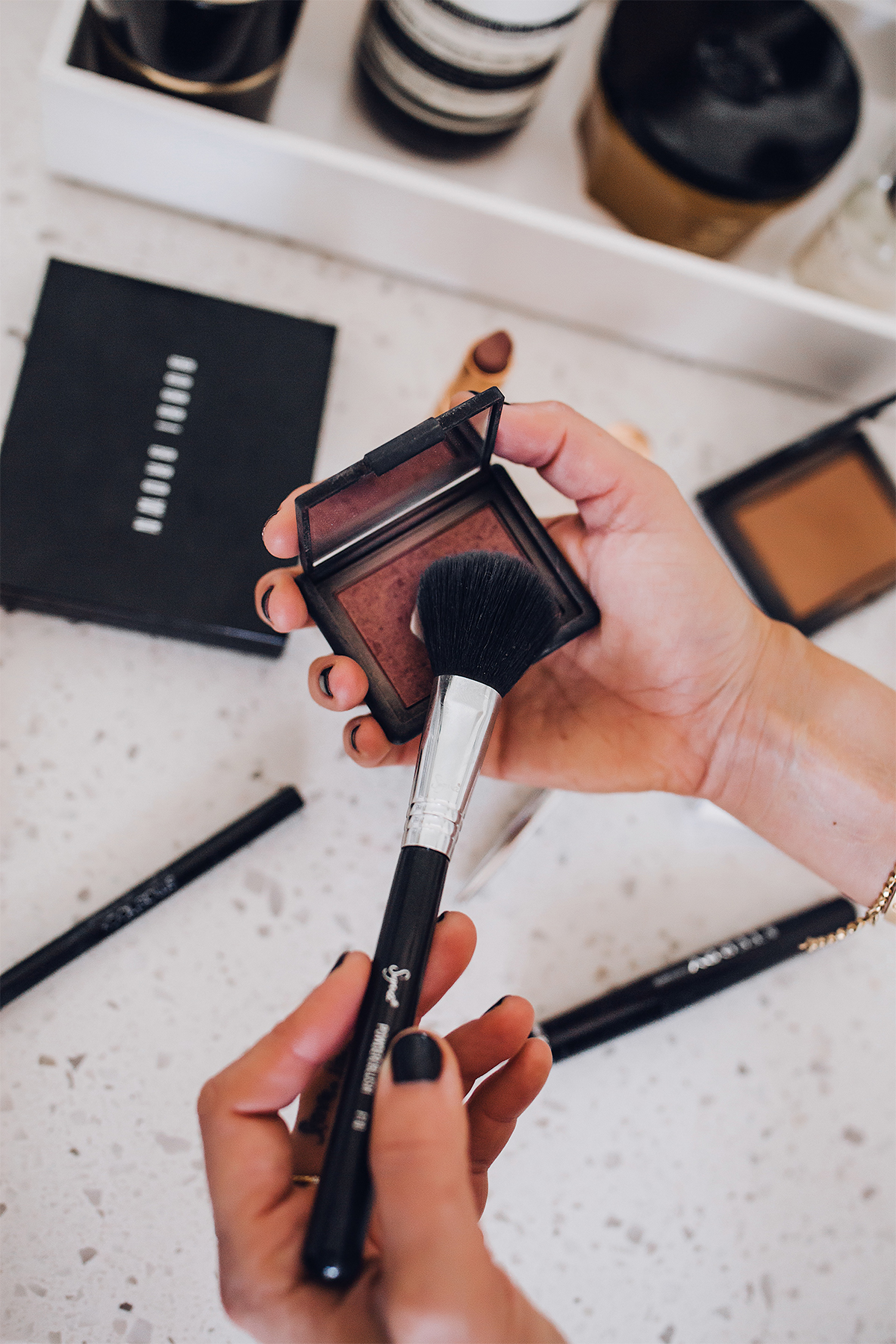 Fashion Jackson Daily Makeup Beauty Routine NARS Blush Sin