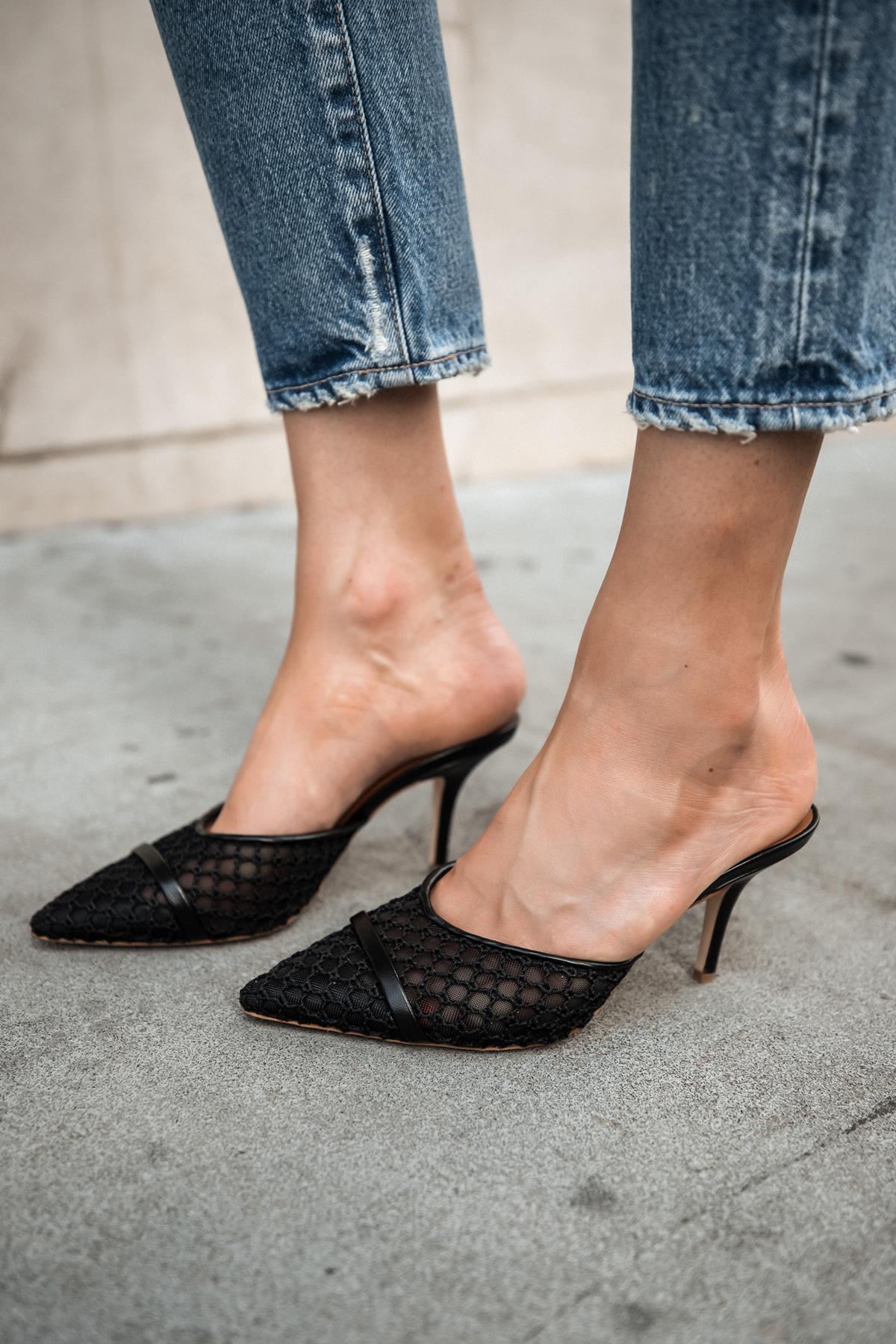 Fashion Jackson Wearing Malone Souliers Napa Mesh Slide Mules