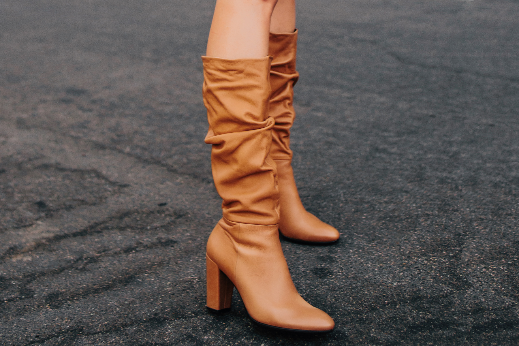 Fashion Jackson Ecco Tan Leather Heeled Boots