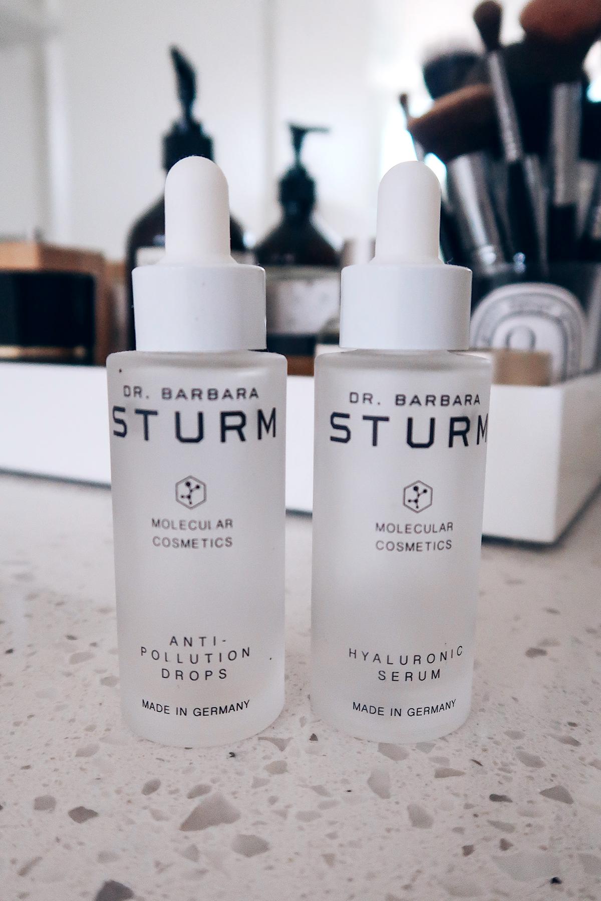 Fashion Jackson Skincare Routine Dr Barbara Sturm Anti Pollution Drops Hyaluronic Serum